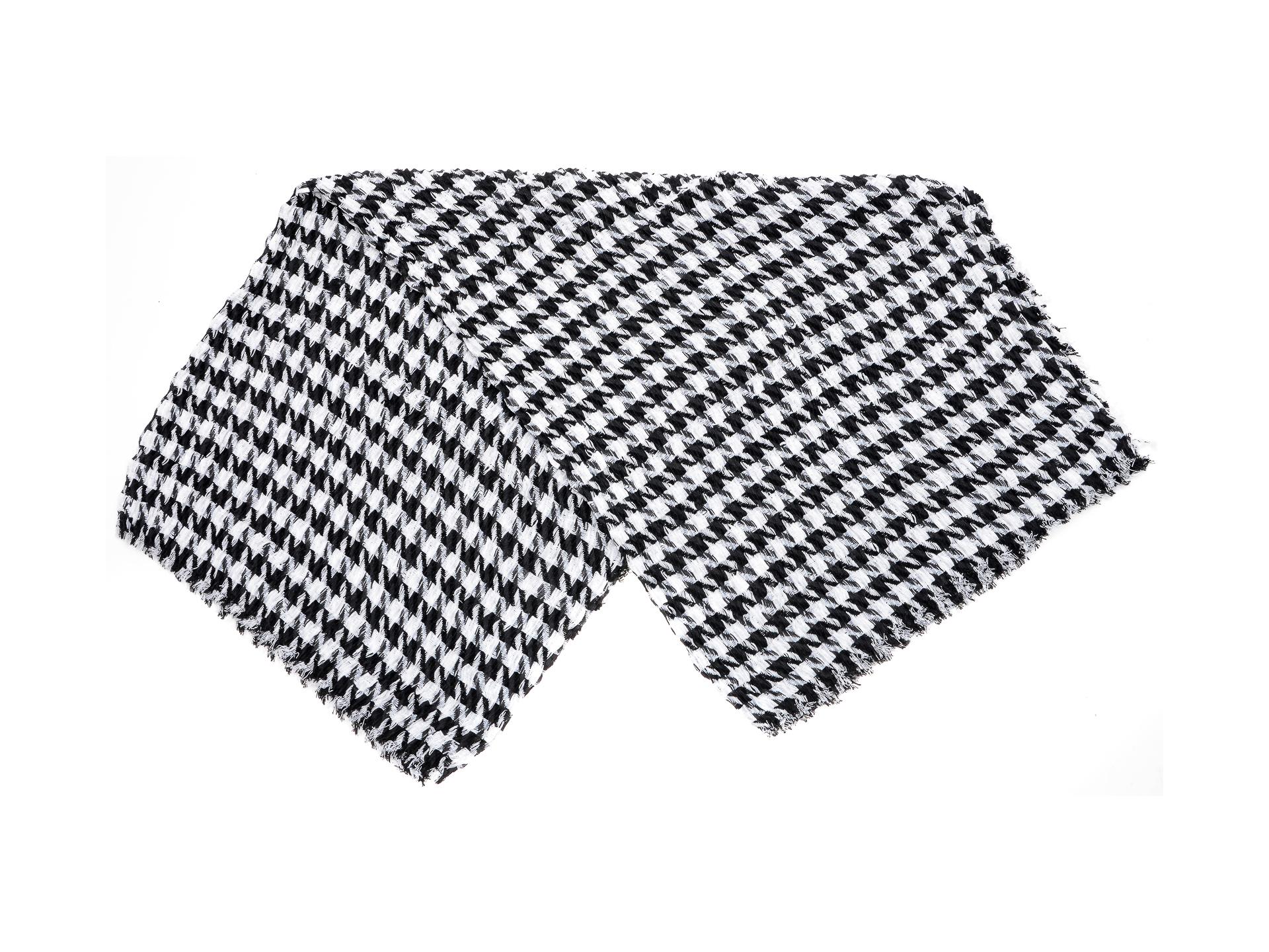 Esarfa ALDO alb-negru, Thuringia003, din material textil imagine