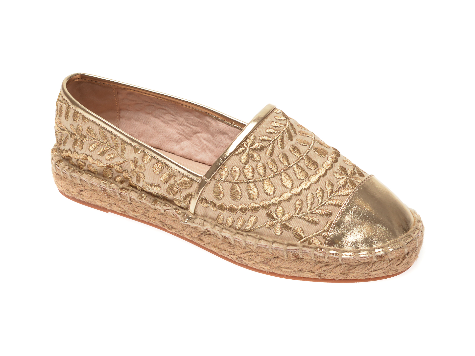 Espadrile ALDO aurii, Cinco710, din material textil imagine otter.ro 2021