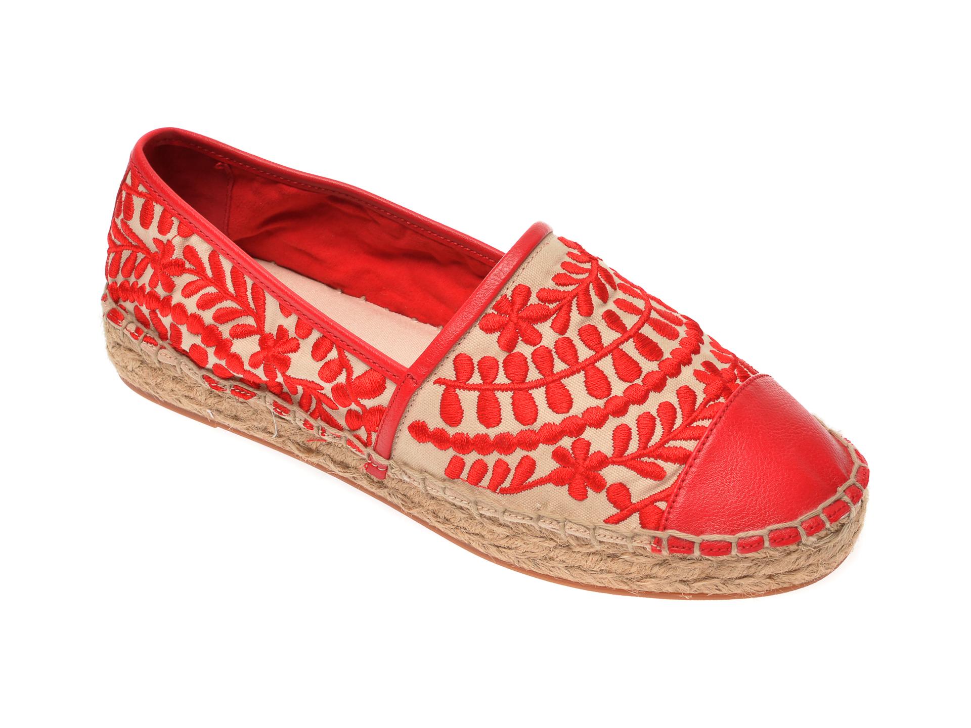 Espadrile ALDO rosii, Cinco600, din material textil imagine otter.ro 2021