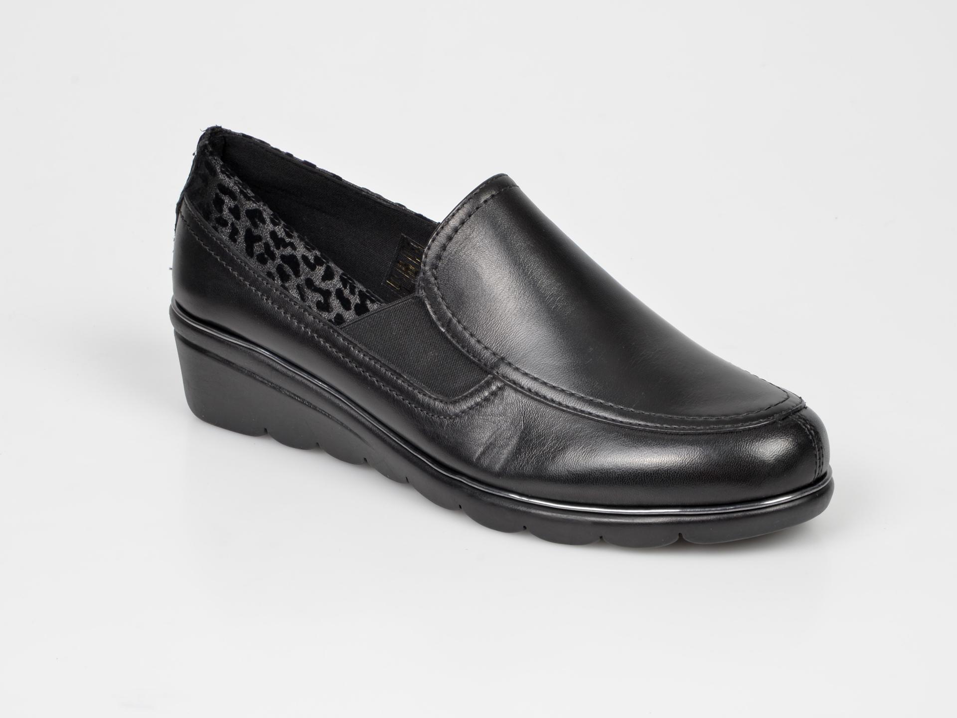 Pantofi The FLEXX negri, Boombox, din piele naturala