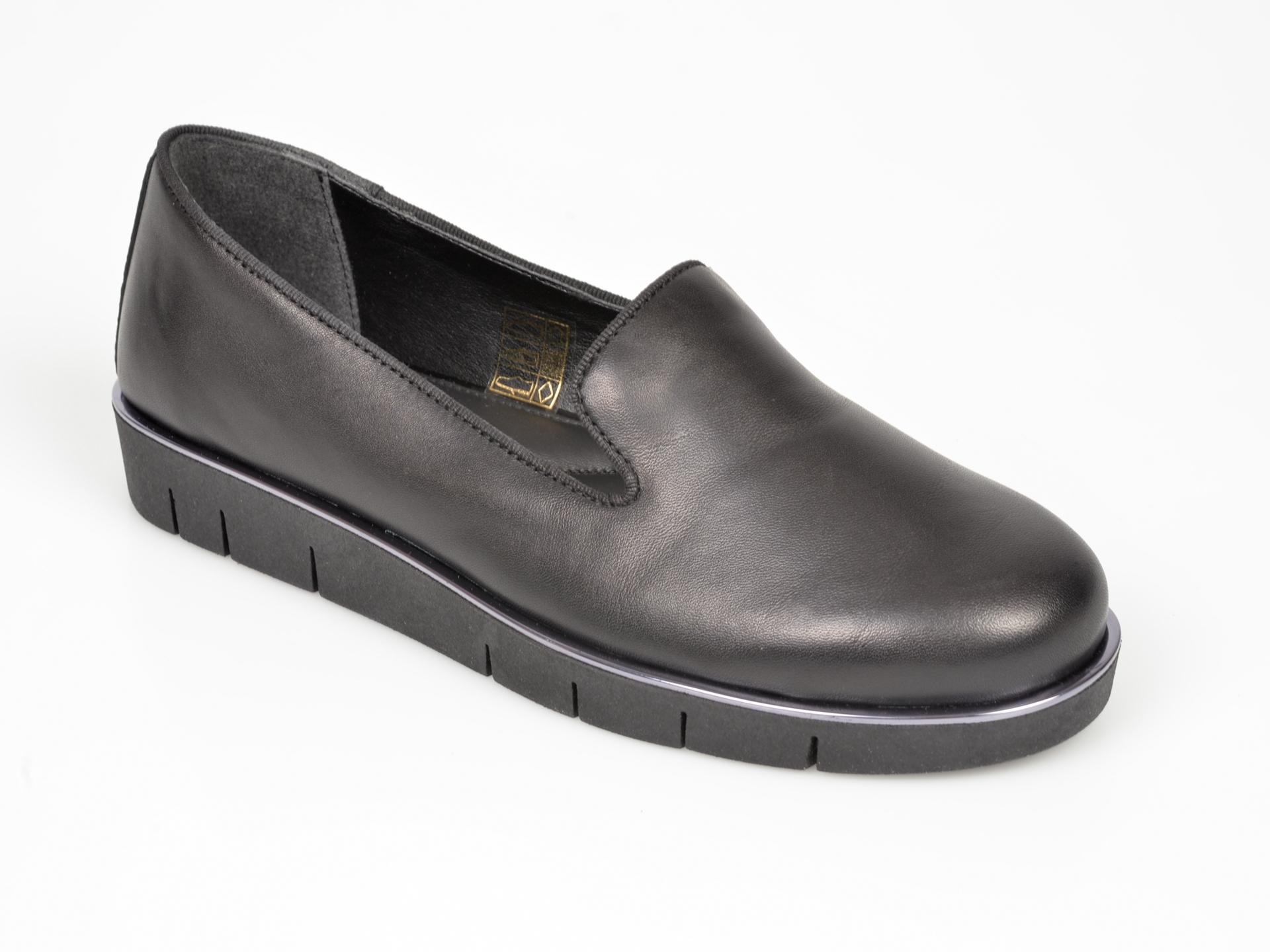 Pantofi The FLEXX negri, Etna, din piele naturala