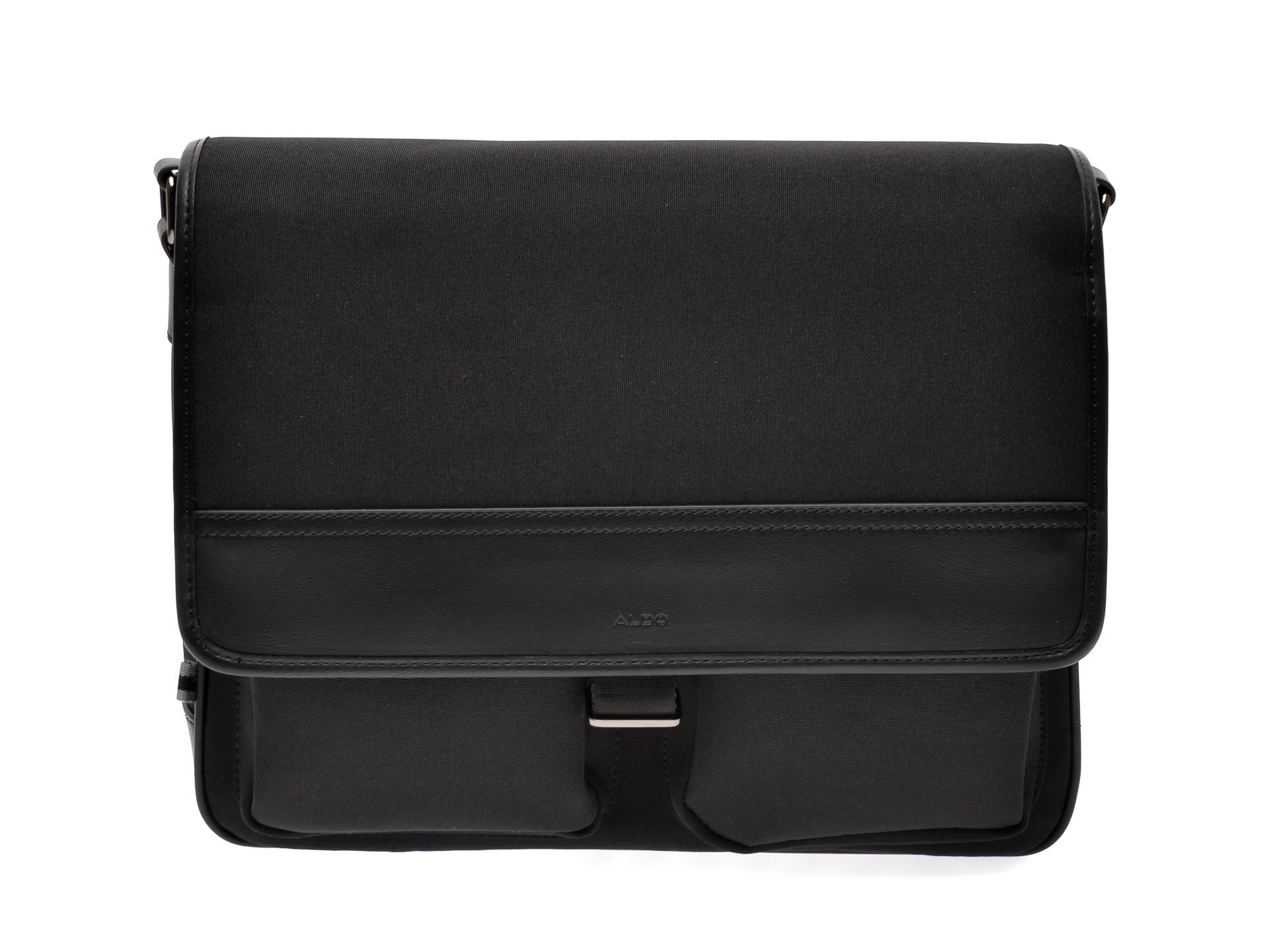 Geanta ALDO neagra, Nutans001, din material textil si piele ecologica imagine otter.ro