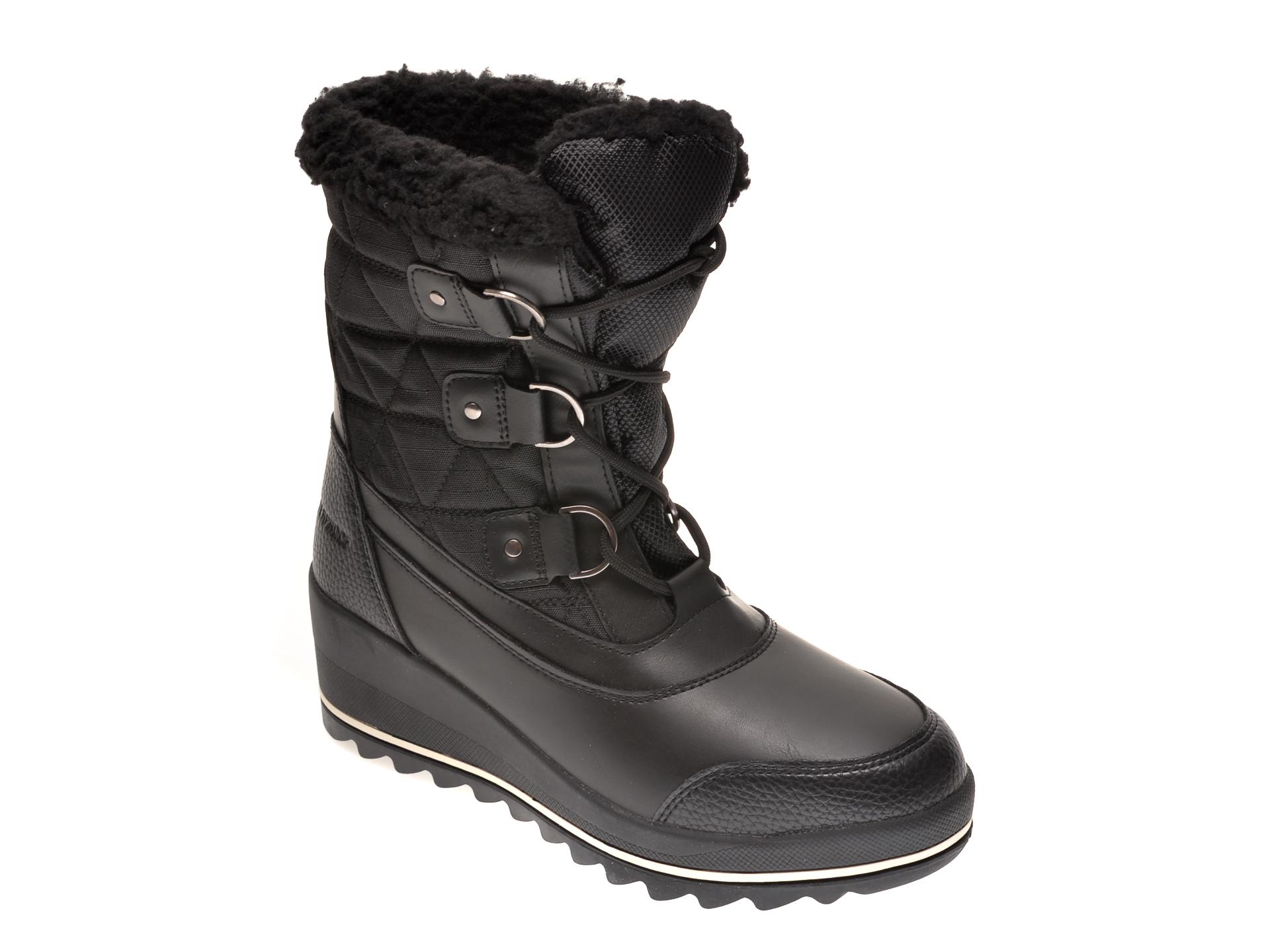 Ghete ALDO negre, Legelanna001, din material textil si piele ecologica