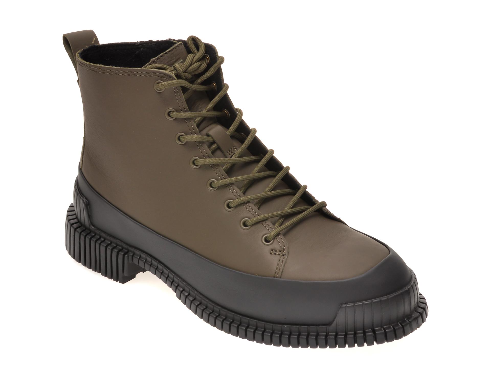 Ghete CAMPER kaki, K400388, din piele naturala imagine