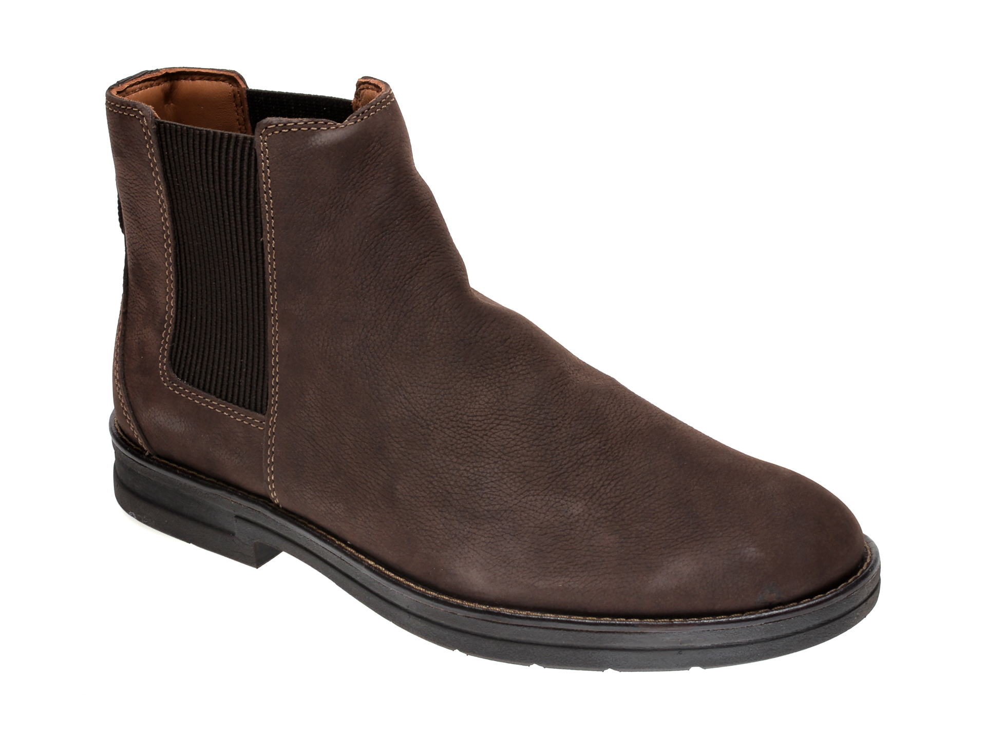 Ghete CLARKS maro, BANNING LIMIT, din nabuc imagine