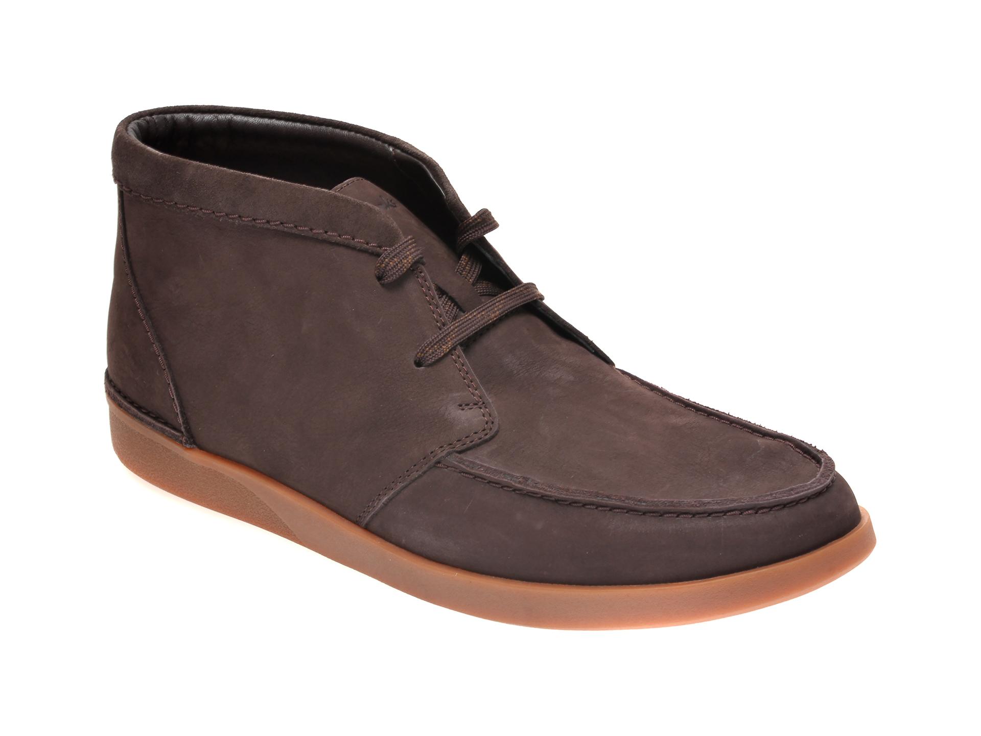 Ghete CLARKS maro, OAKLAND TOP, din nabuc imagine