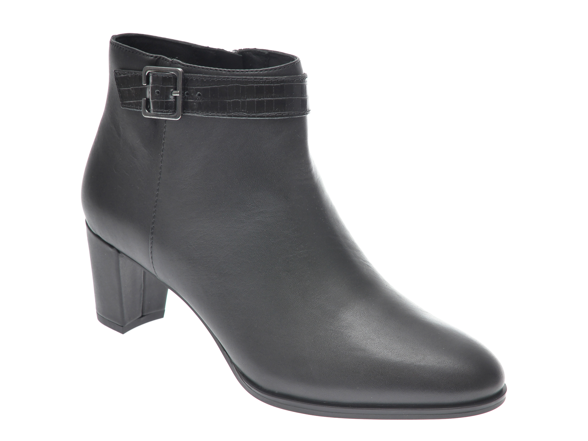 Ghete CLARKS negre, KAYLIN60 BOOT, din piele naturala imagine
