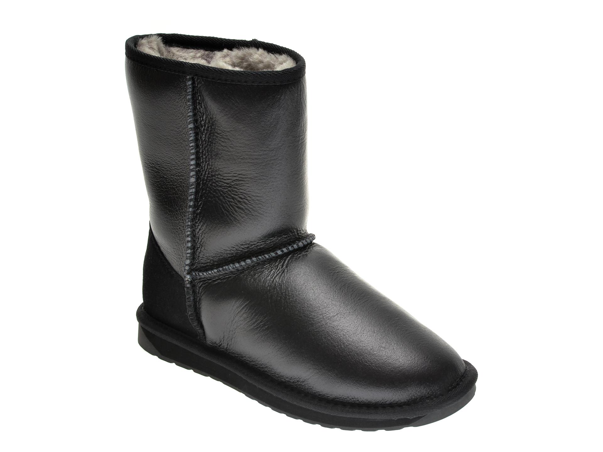 Ghete EMU negre, W10715, din piele naturala imagine otter.ro