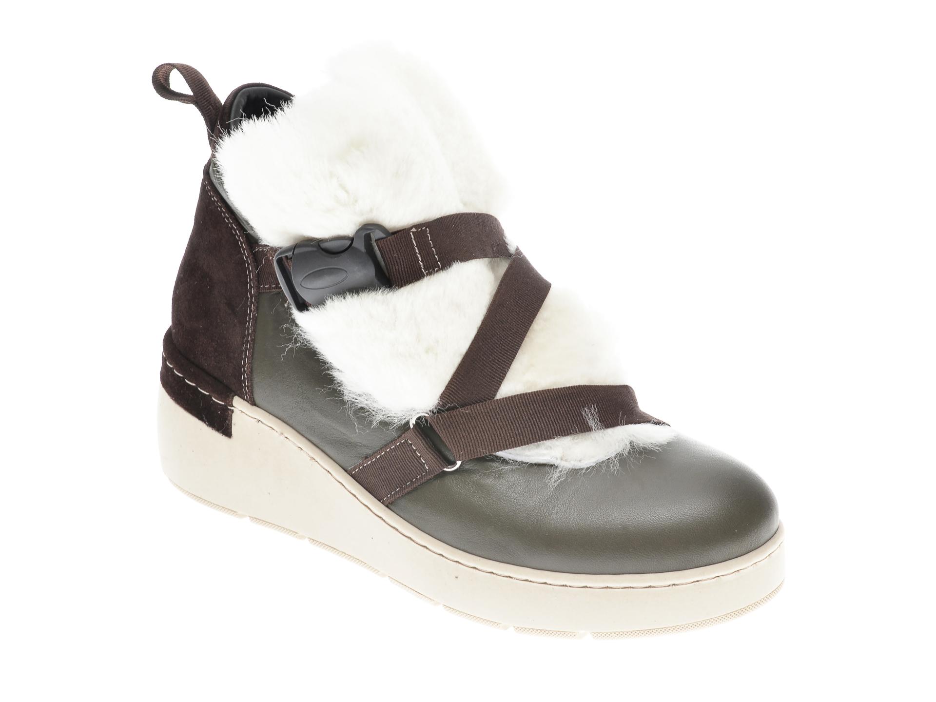 Ghete FLAVIA PASSINI kaki, 1047, din piele naturala imagine