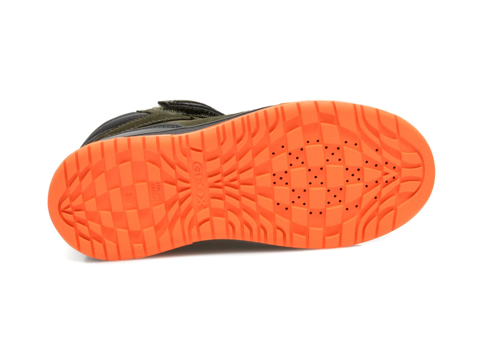 Ghete GEOX kaki, J16FDA, din piele naturala - 7