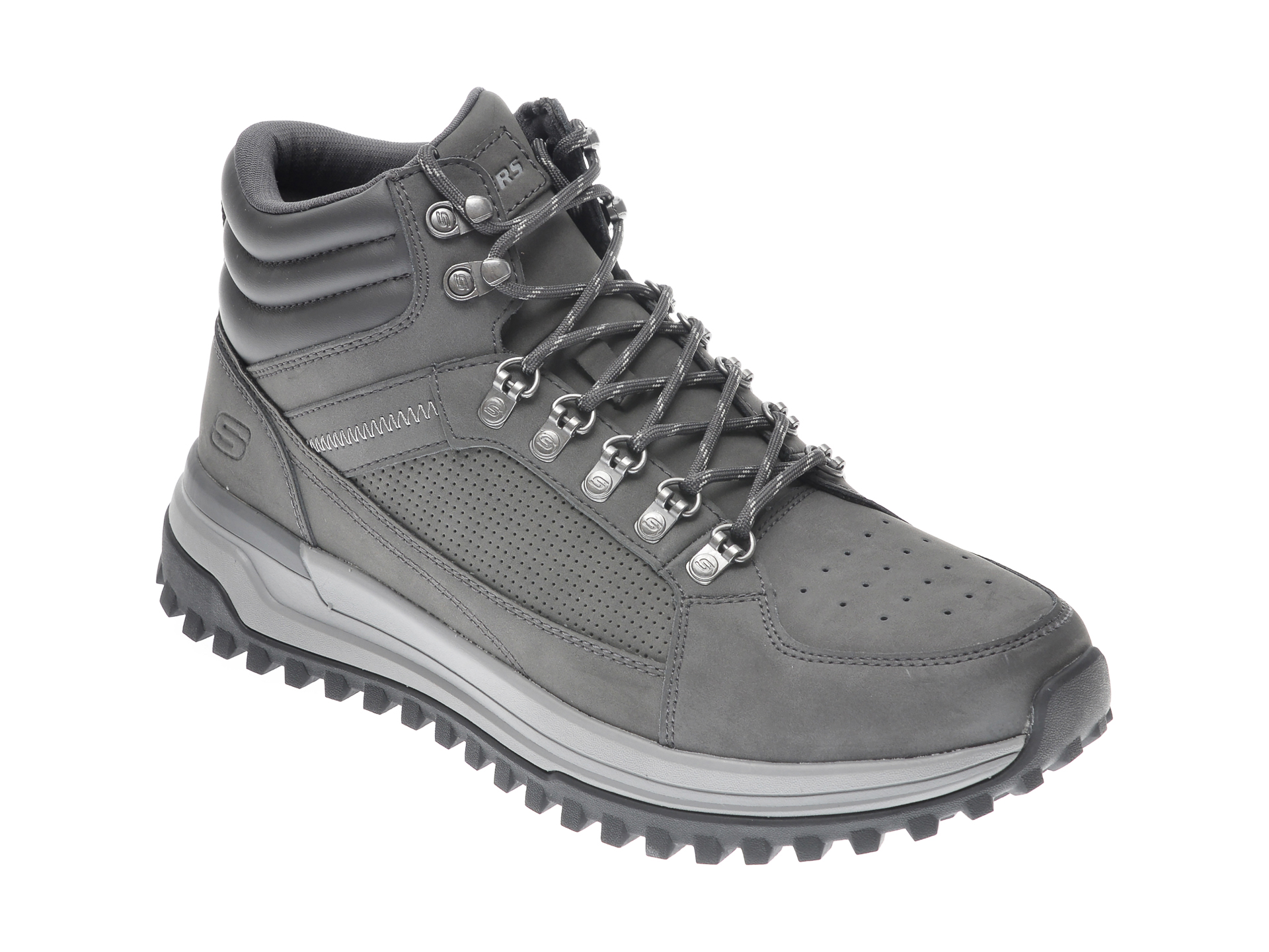 Ghete SKECHERS gri, 210152, din piele naturala imagine