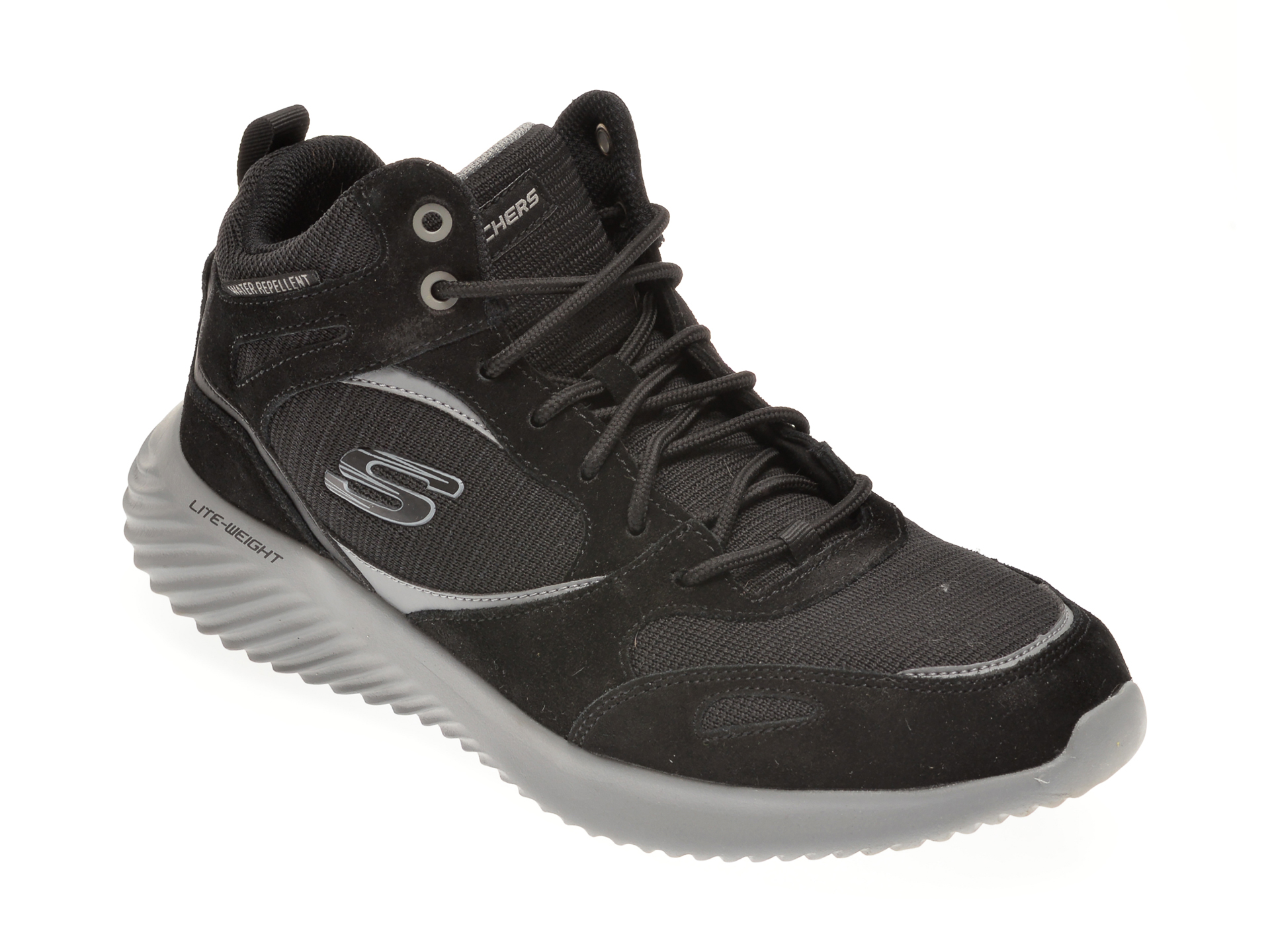Ghete SKECHERS negre, BOUNDER HYRIDGE, din material textil si piele intoarsa imagine