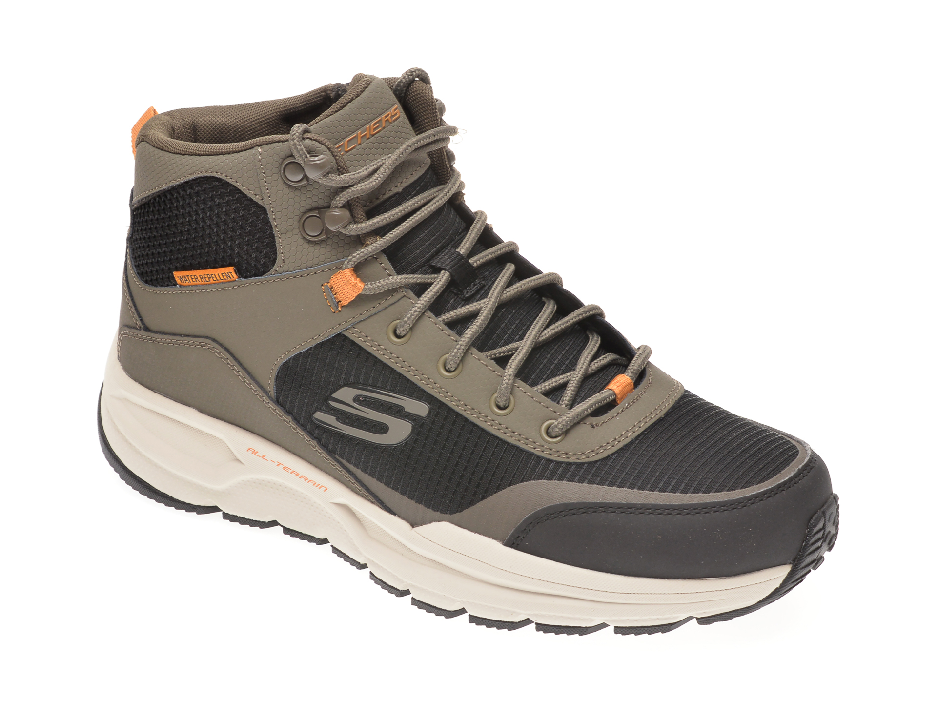 Ghete SKECHERS negre, ESCAPE PLAN 2.0 WOODROCK, din material textil si piele naturala imagine