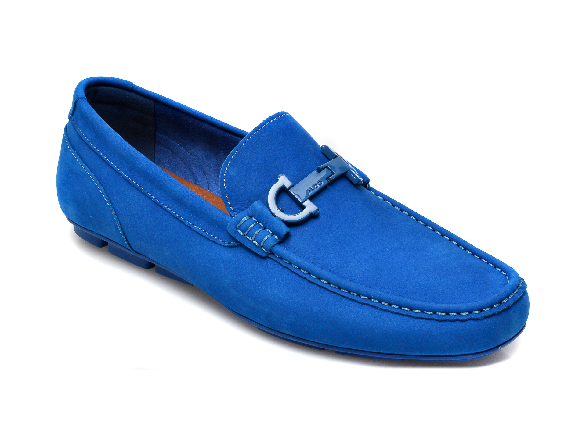 Mocasini ALDO albastri, Orlovo400, din nabuc imagine