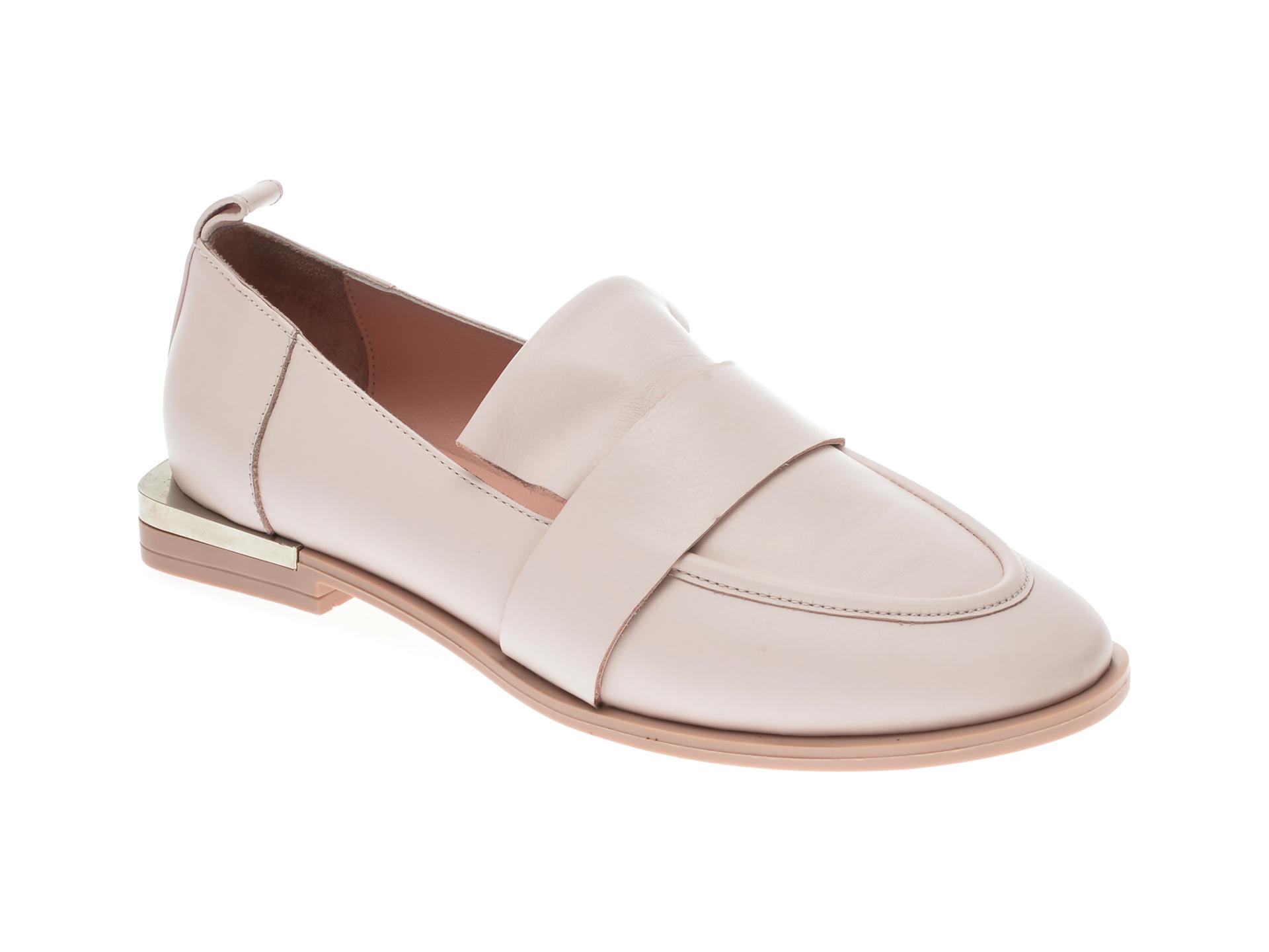 Pantofi UNICA nude, A5068, din piele naturala
