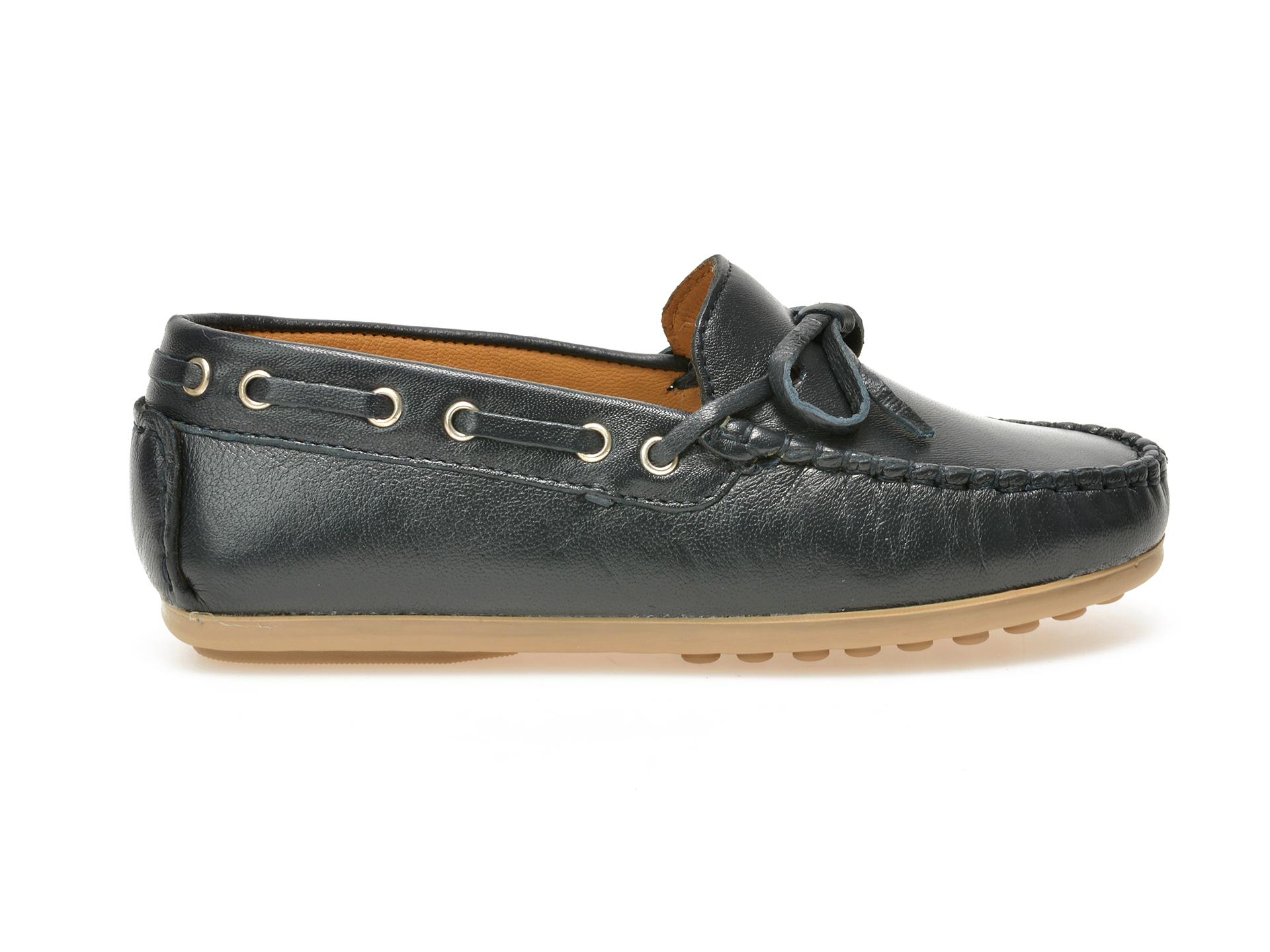 Pantofi Mocasini Pentru Copii Otter Bleumarin, 3001, Din Piele Naturala