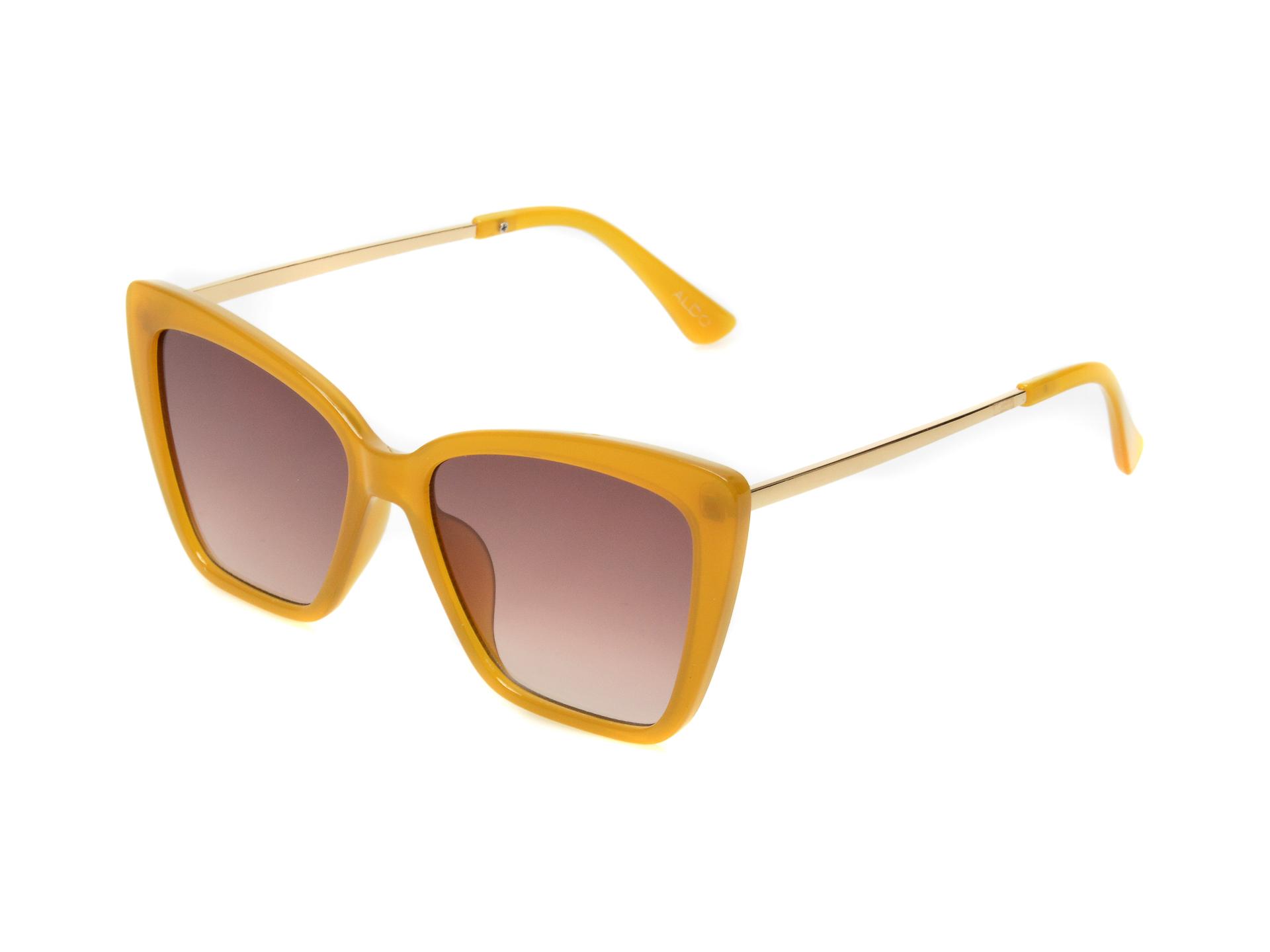 Ochelari de soare ALDO galbeni, 13087865, din pvc imagine otter.ro 2021