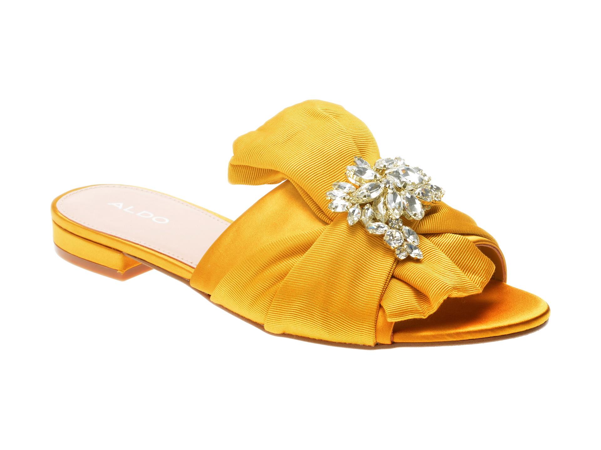 Papuci ALDO galbeni, Simaxis, din material textil
