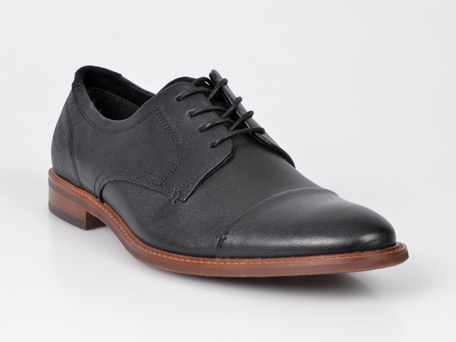 Pantofi ALDO negri, Cradowen, din piele naturala imagine