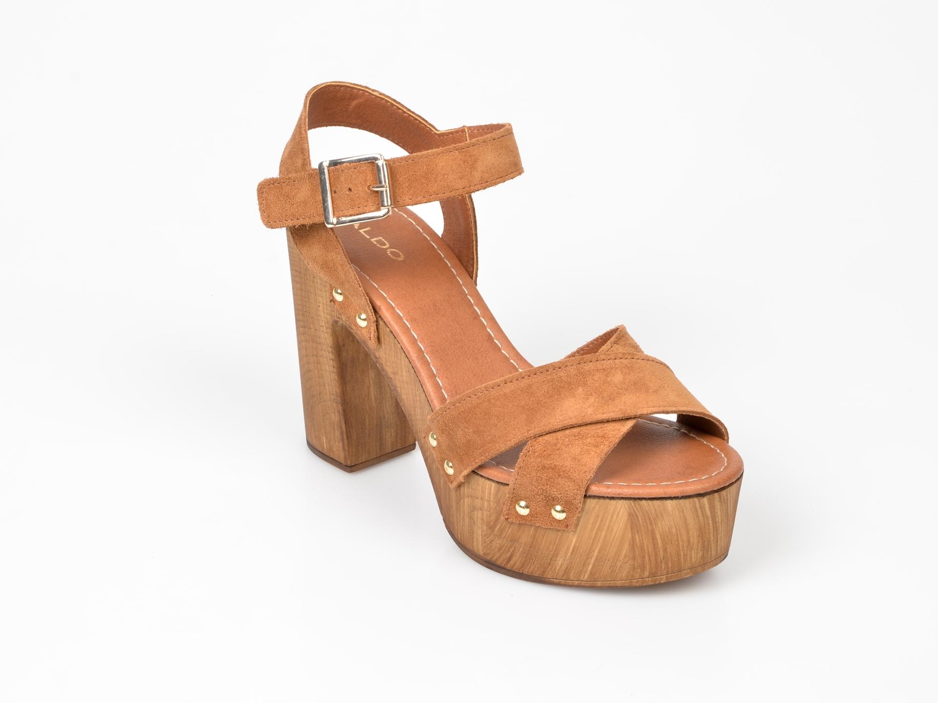 Sandale ALDO maro, Deleniel, din piele naturala