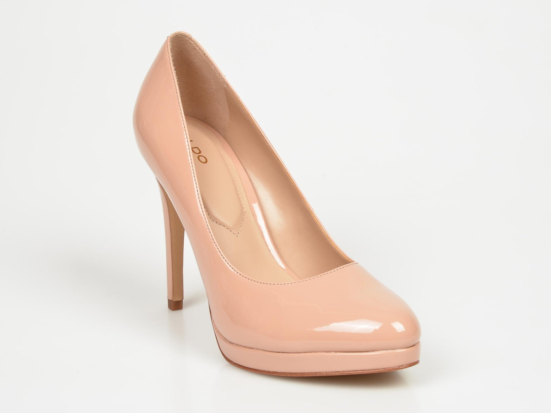 Pantofi ALDO nude Ibaoni din piele ecologica