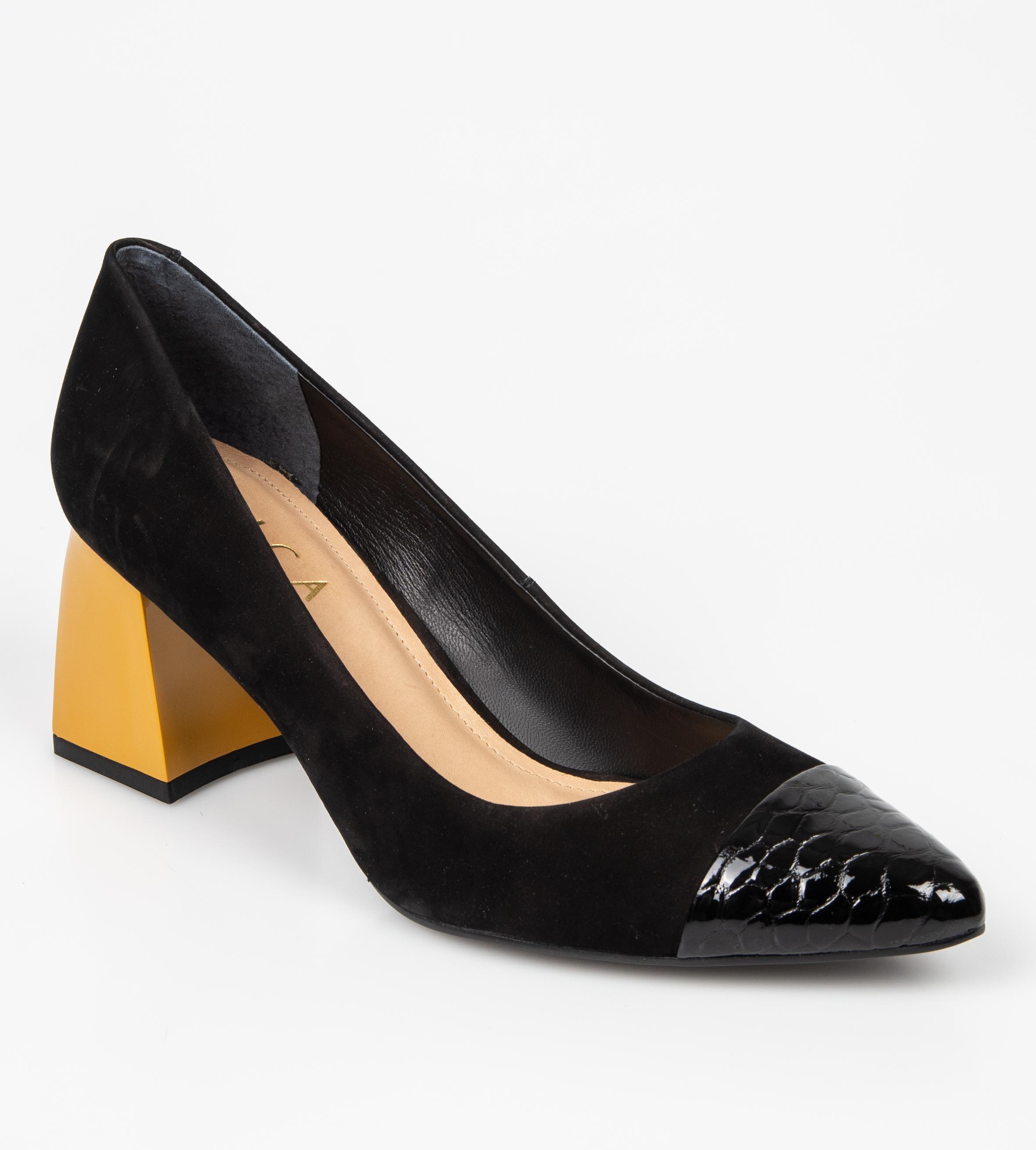 Pantofi EPICA negri, 8493456, din nabuc