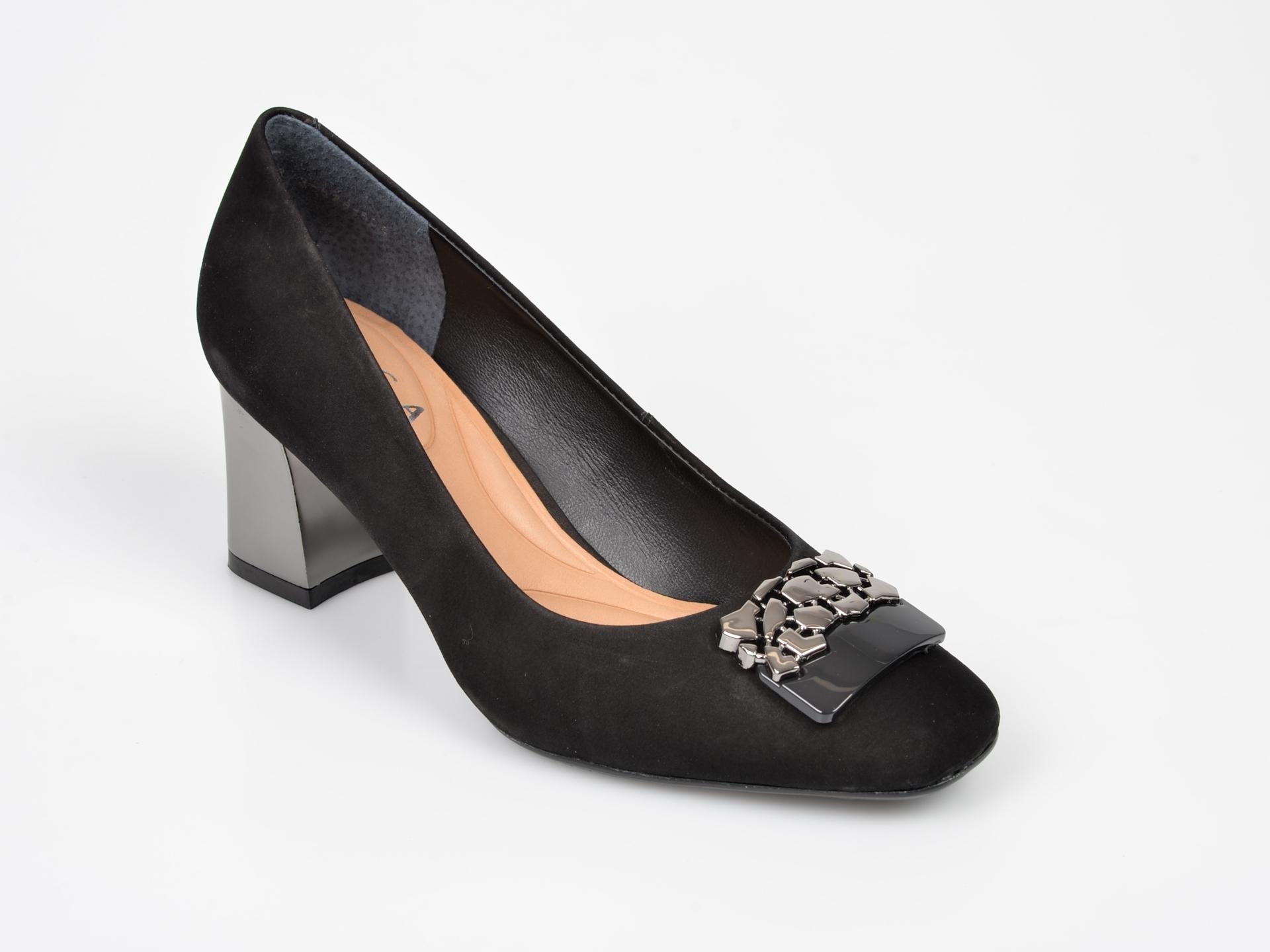 Pantofi EPICA negri, 9673528, din nabuc