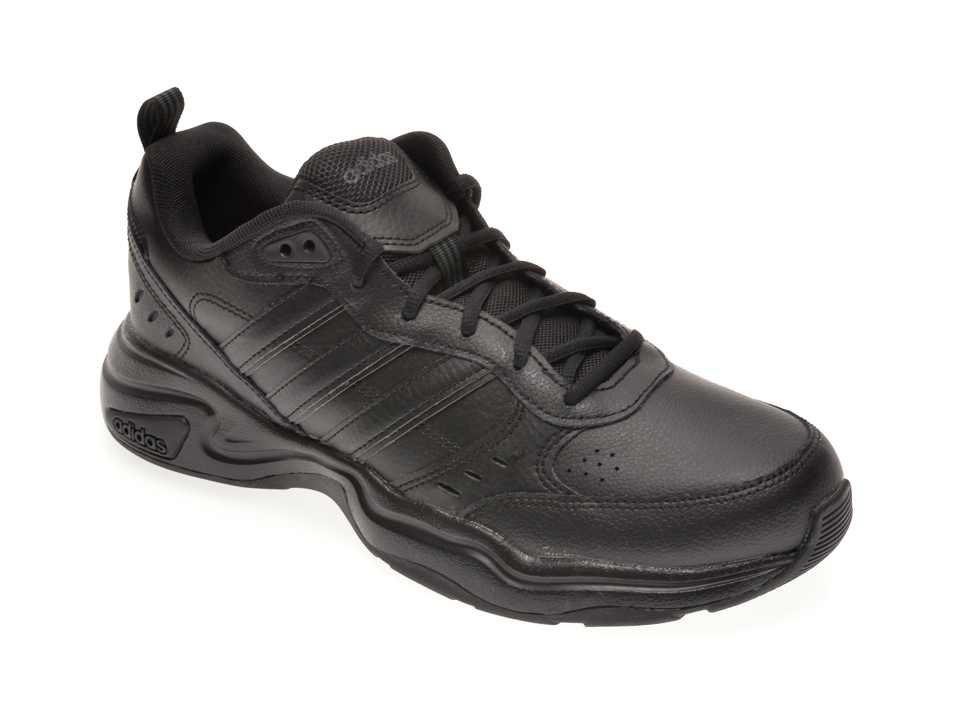 Pantofi ADIDAS negri, STRUTTER, din piele naturala