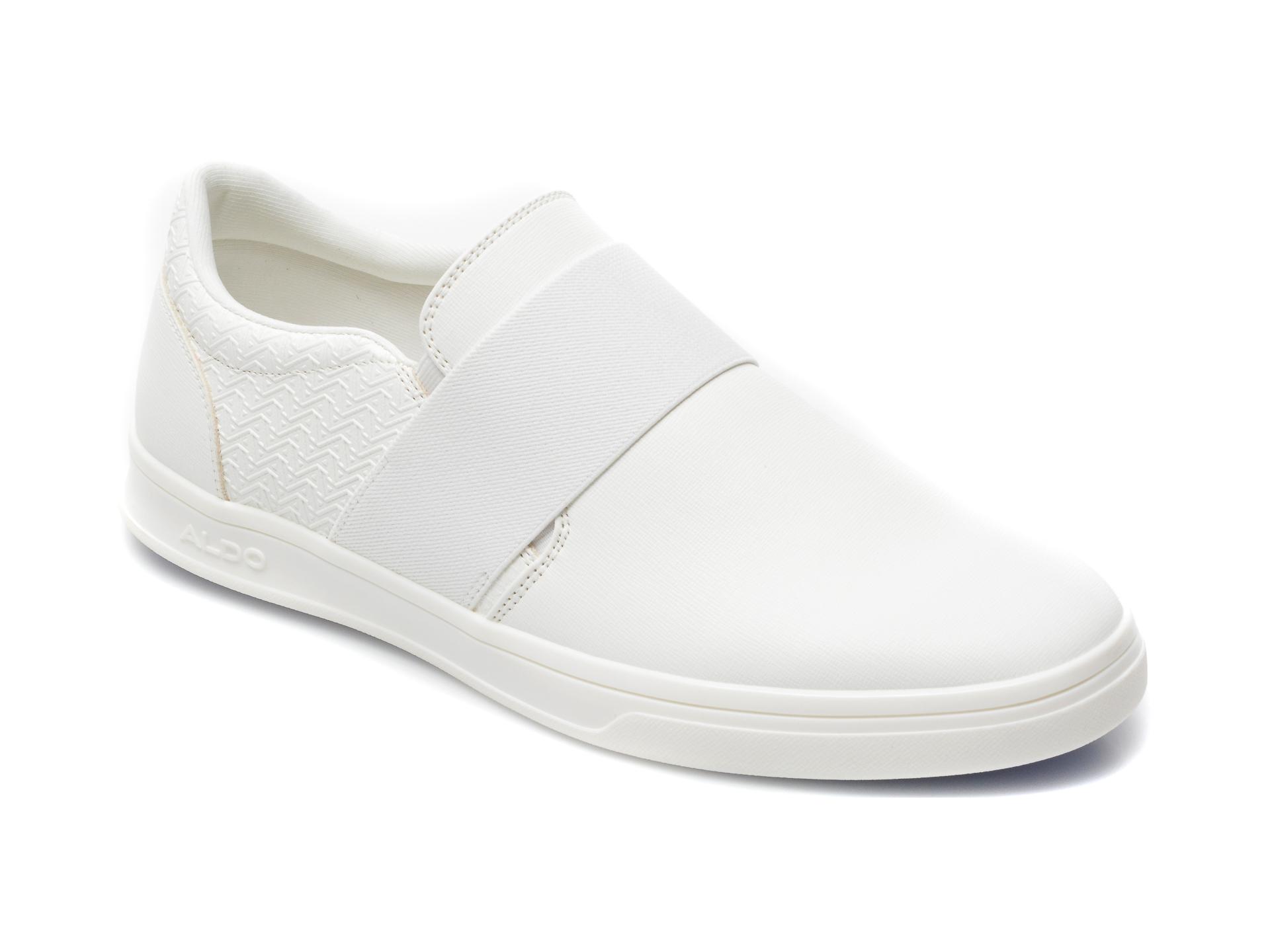 Pantofi ALDO albi, Bellefair100, din piele ecologica
