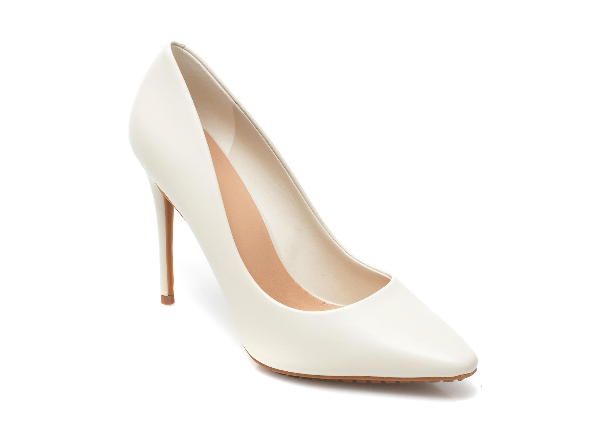 Pantofi ALDO albi, Durbell100, din piele naturala imagine otter.ro 2021