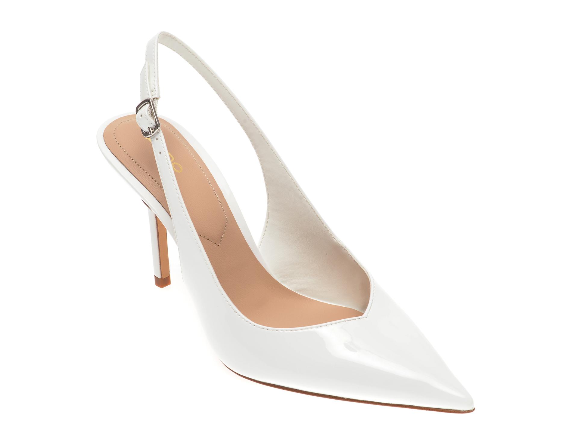 Pantofi ALDO albi, Julietta100, din piele ecologica imagine otter.ro