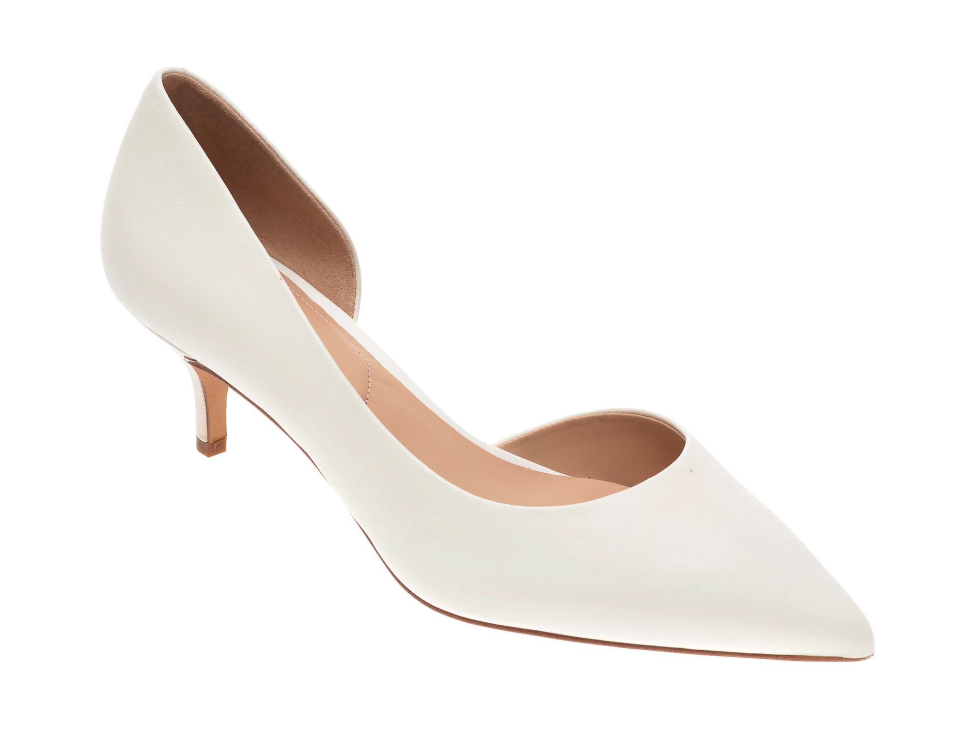Pantofi ALDO albi, Nyderindra100, din piele naturala imagine