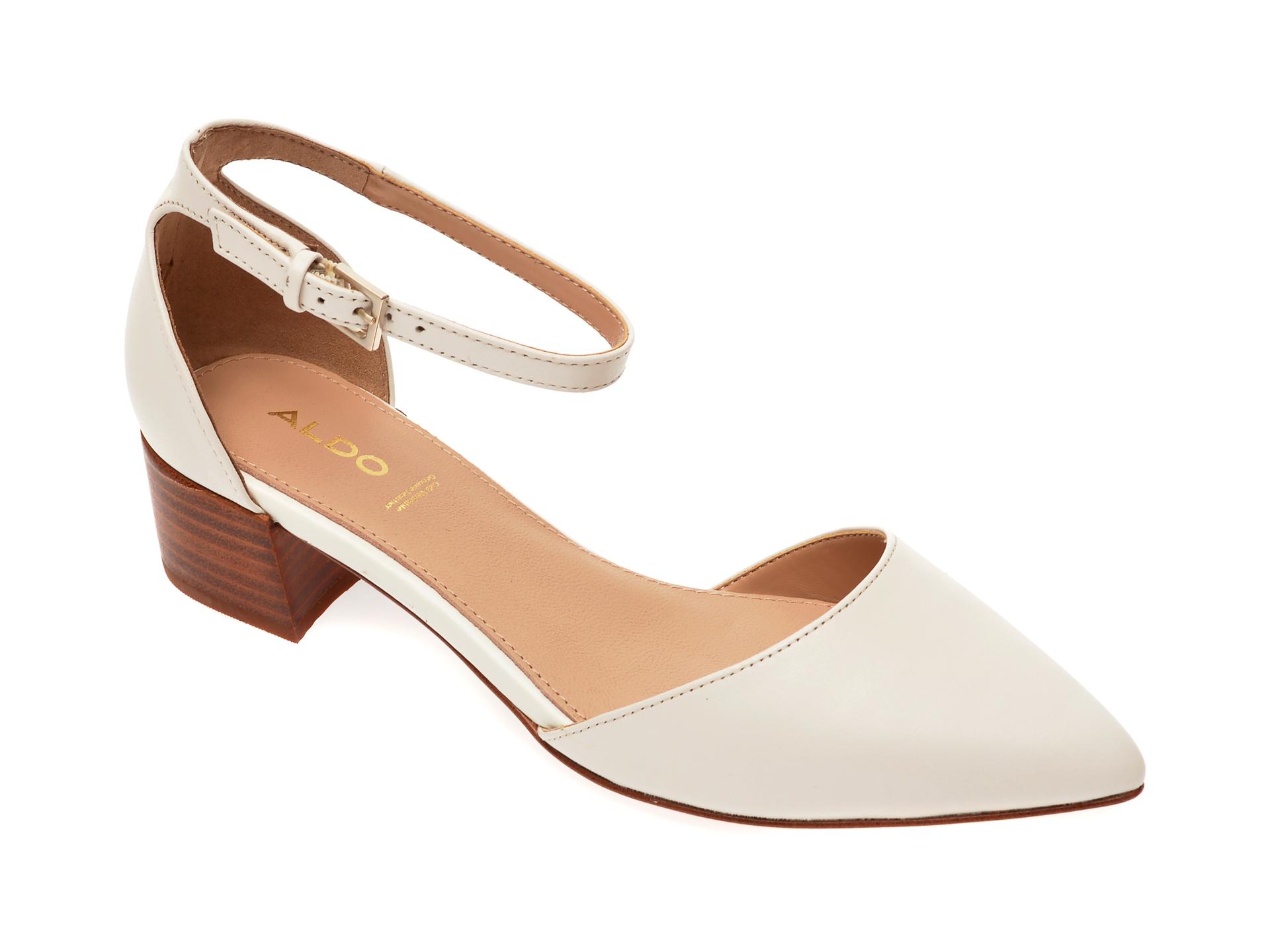 Pantofi ALDO albi, Zuliand102, din piele naturala