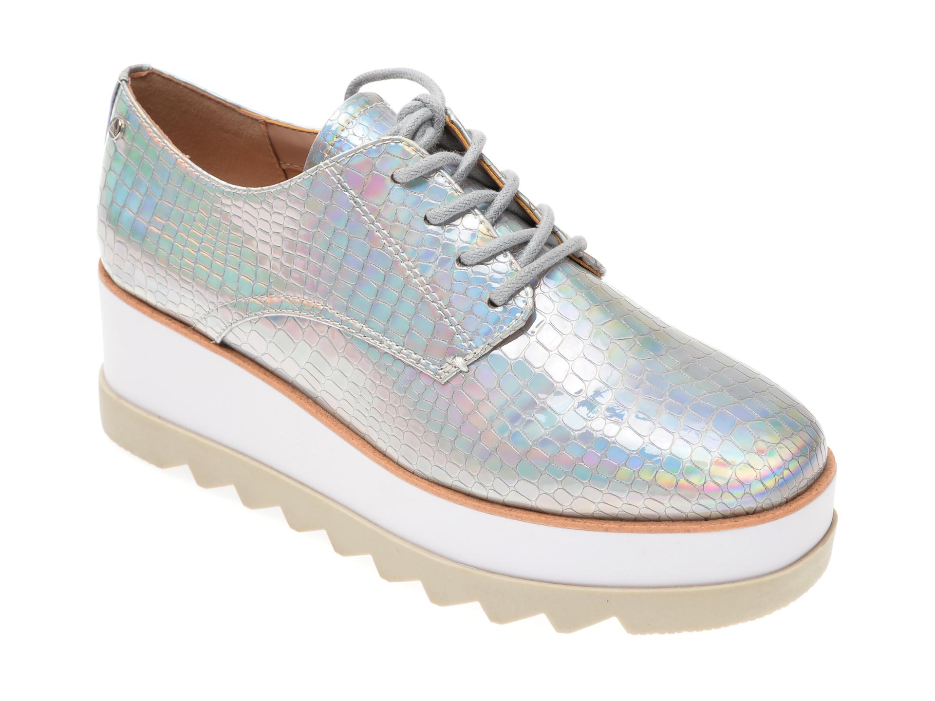 Pantofi ALDO argintii, Lollita962, din piele ecologica imagine