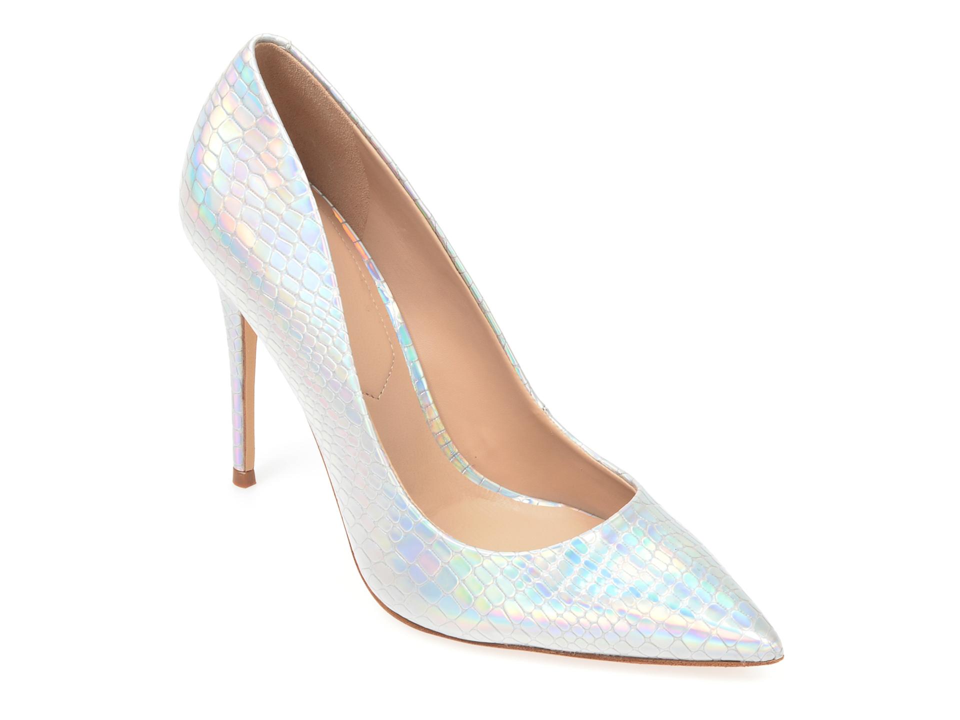 Pantofi ALDO argintii, Stessy_042, din piele ecologica