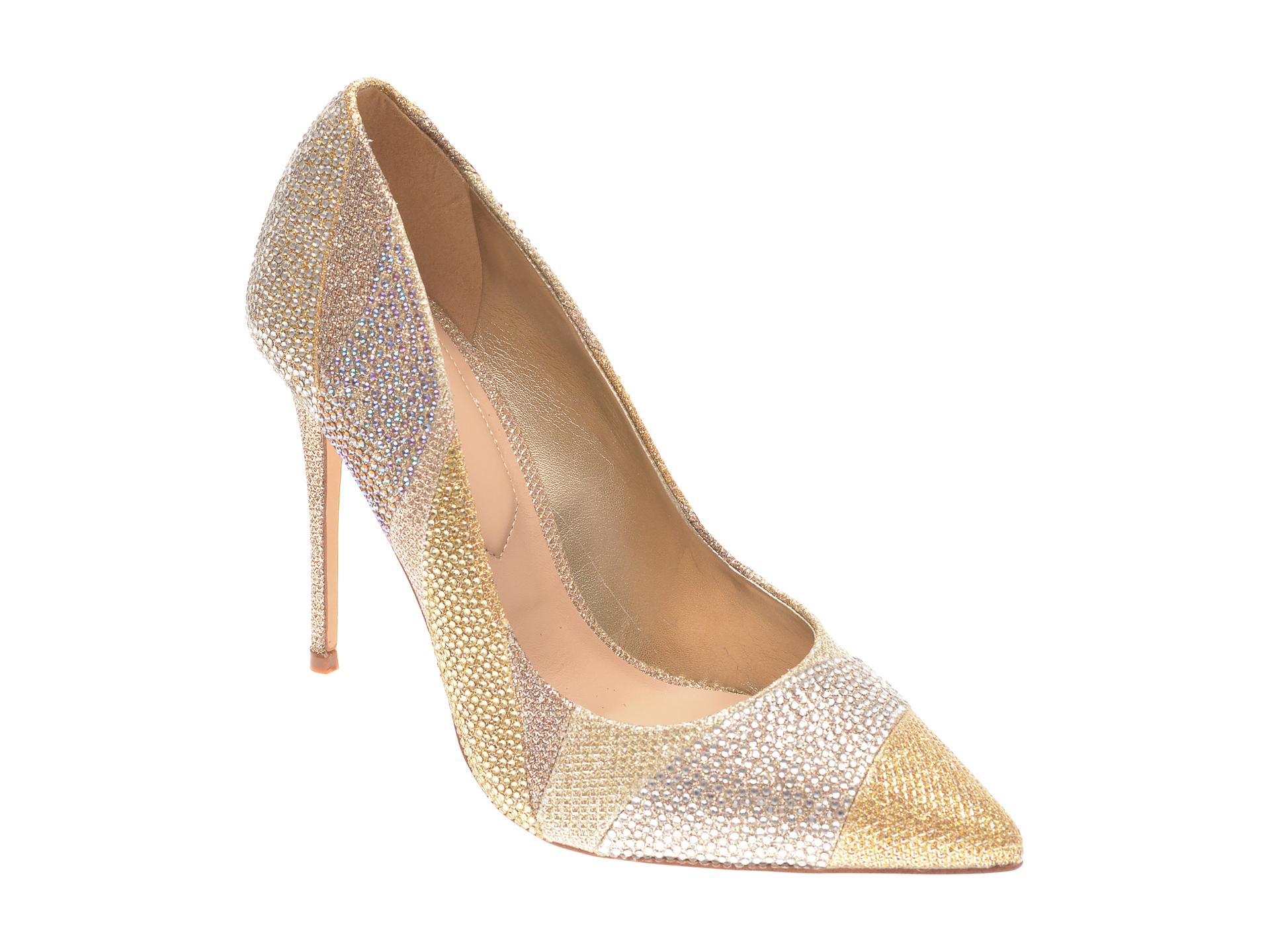 Pantofi ALDO aurii, Kalimna711, din material textil imagine otter.ro 2021