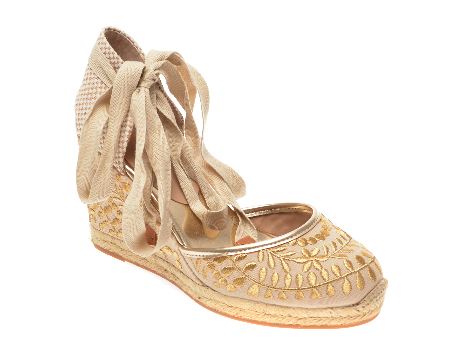 Pantofi ALDO aurii, Muschino710, din material textil