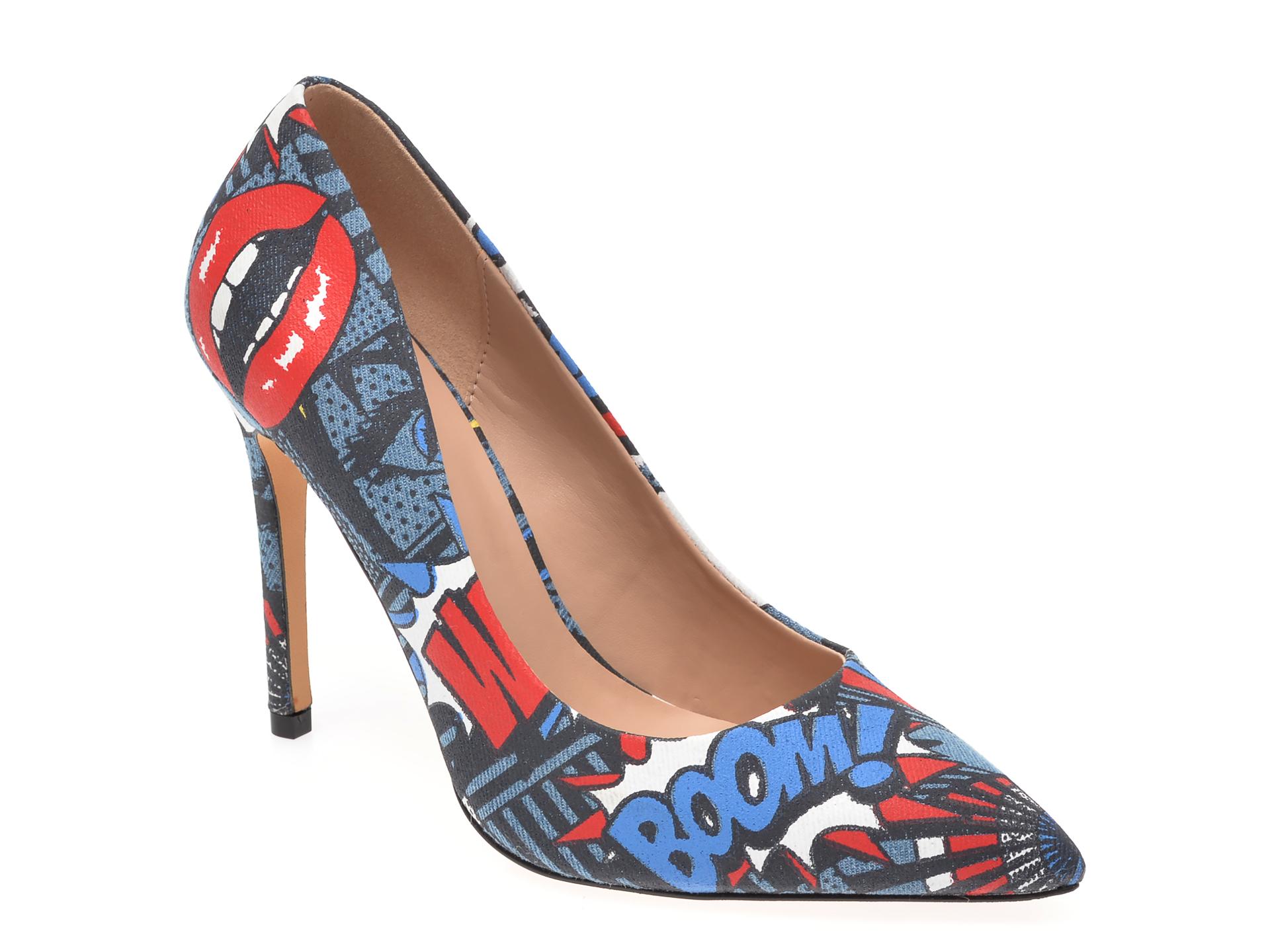 Pantofi ALDO bleumarin, Destiny460, din material textil