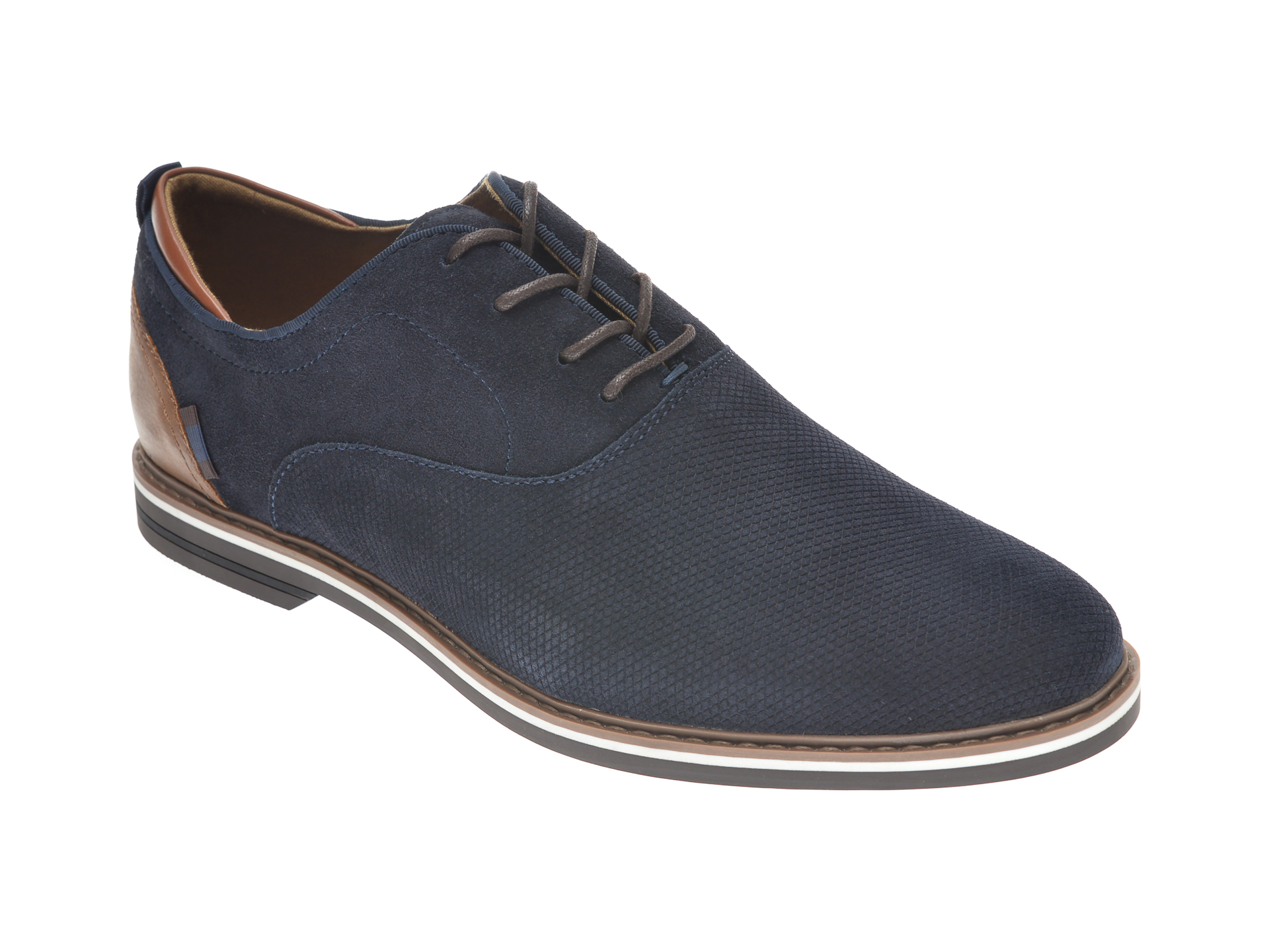 Pantofi ALDO bleumarin, GALOEN410, din piele intoarsa