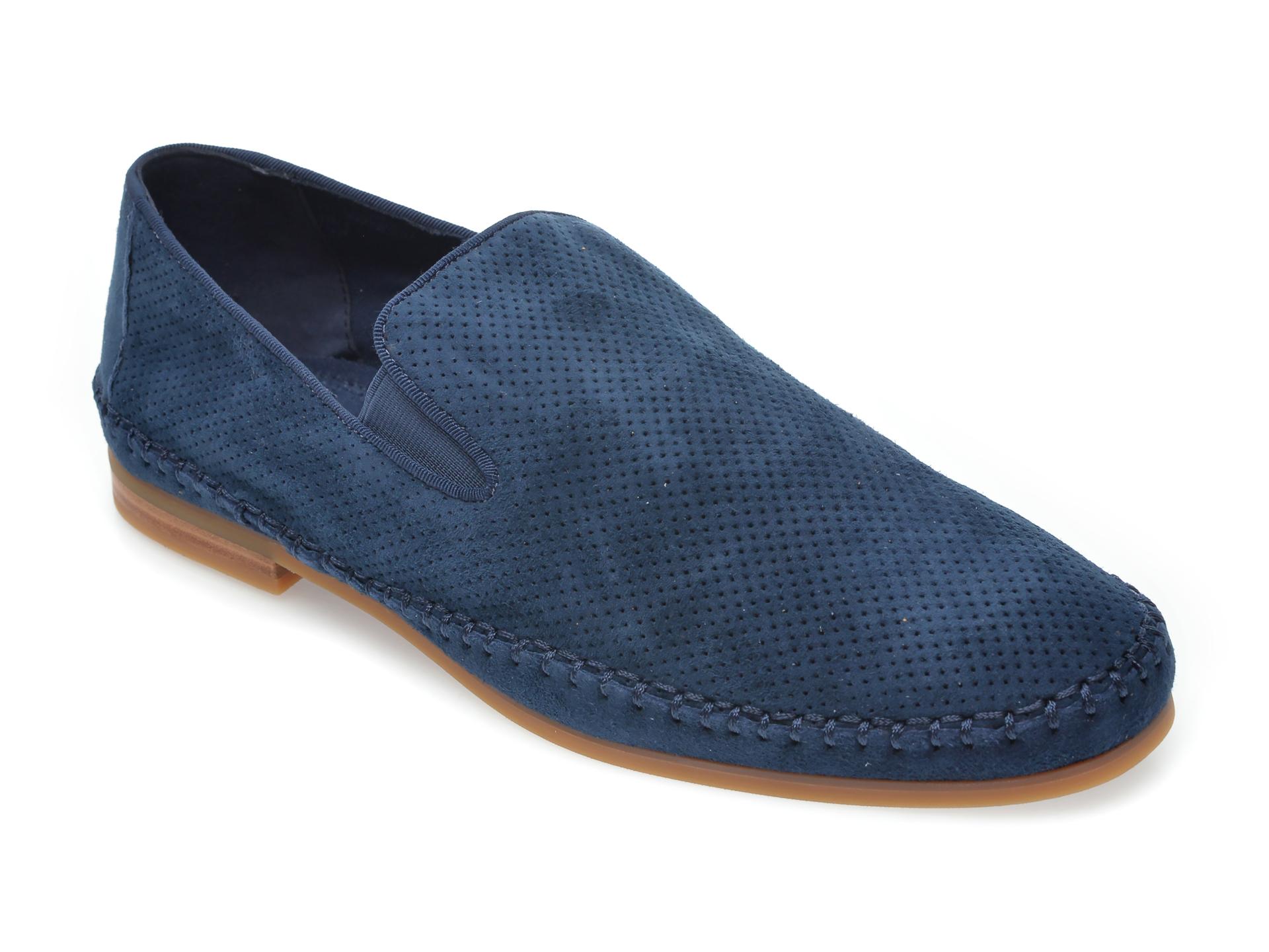 Pantofi ALDO bleumarin, Taurinu410, din piele intoarsa imagine