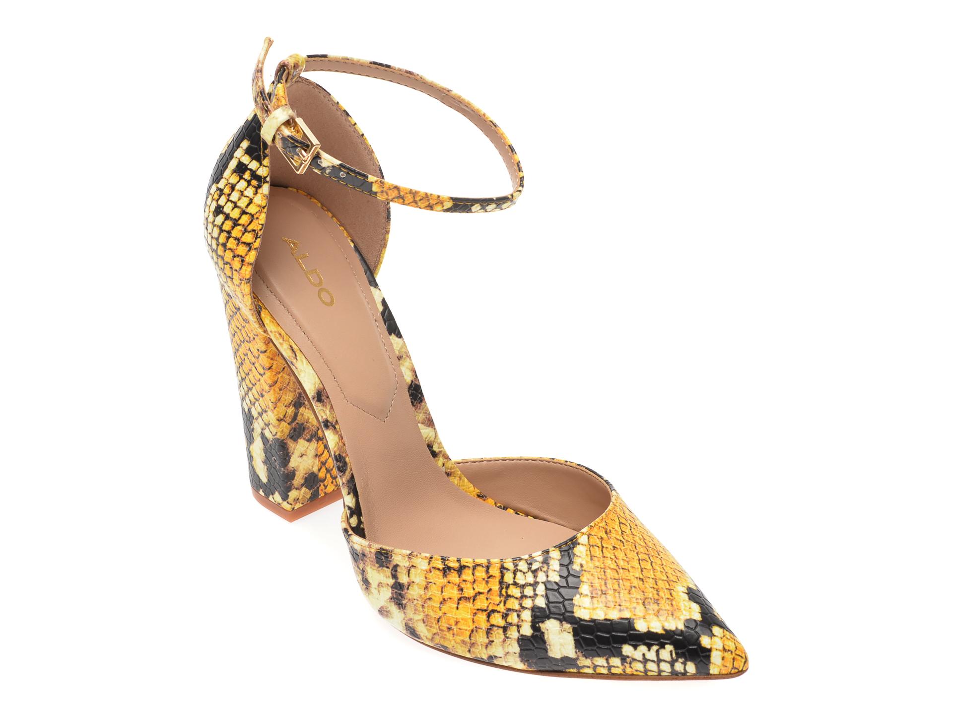Pantofi ALDO galbeni, Nicholes750, din piele ecologica imagine otter.ro
