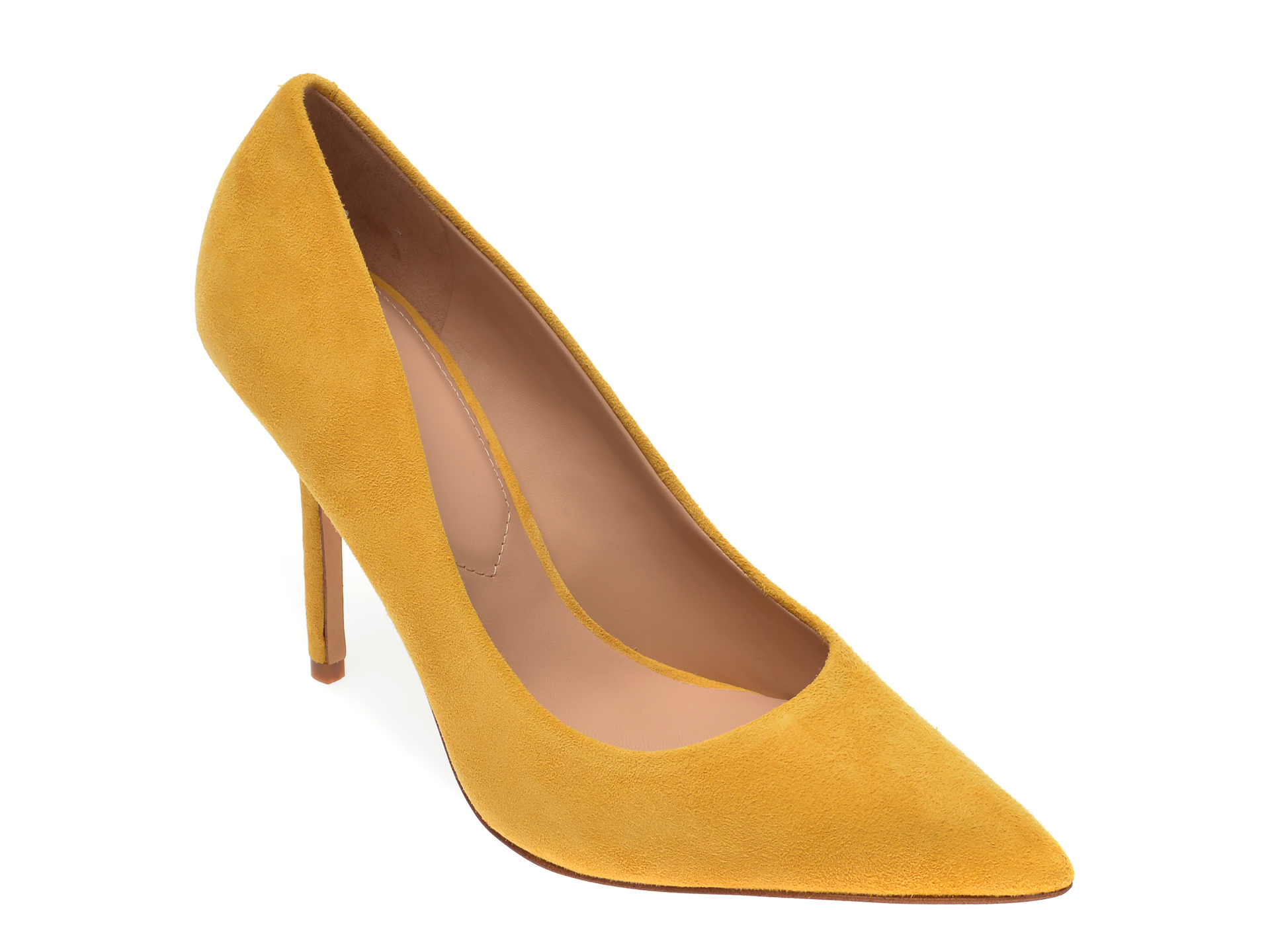 Pantofi ALDO galbeni, Sophy730, din piele intoarsa