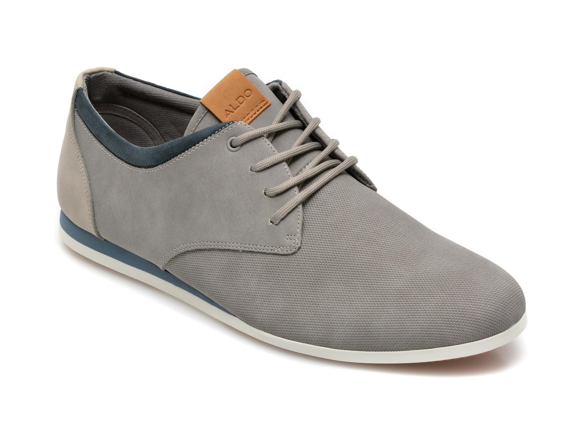 Pantofi ALDO gri, Aauwen-R020, din material textil si piele ecologica imagine otter.ro 2021