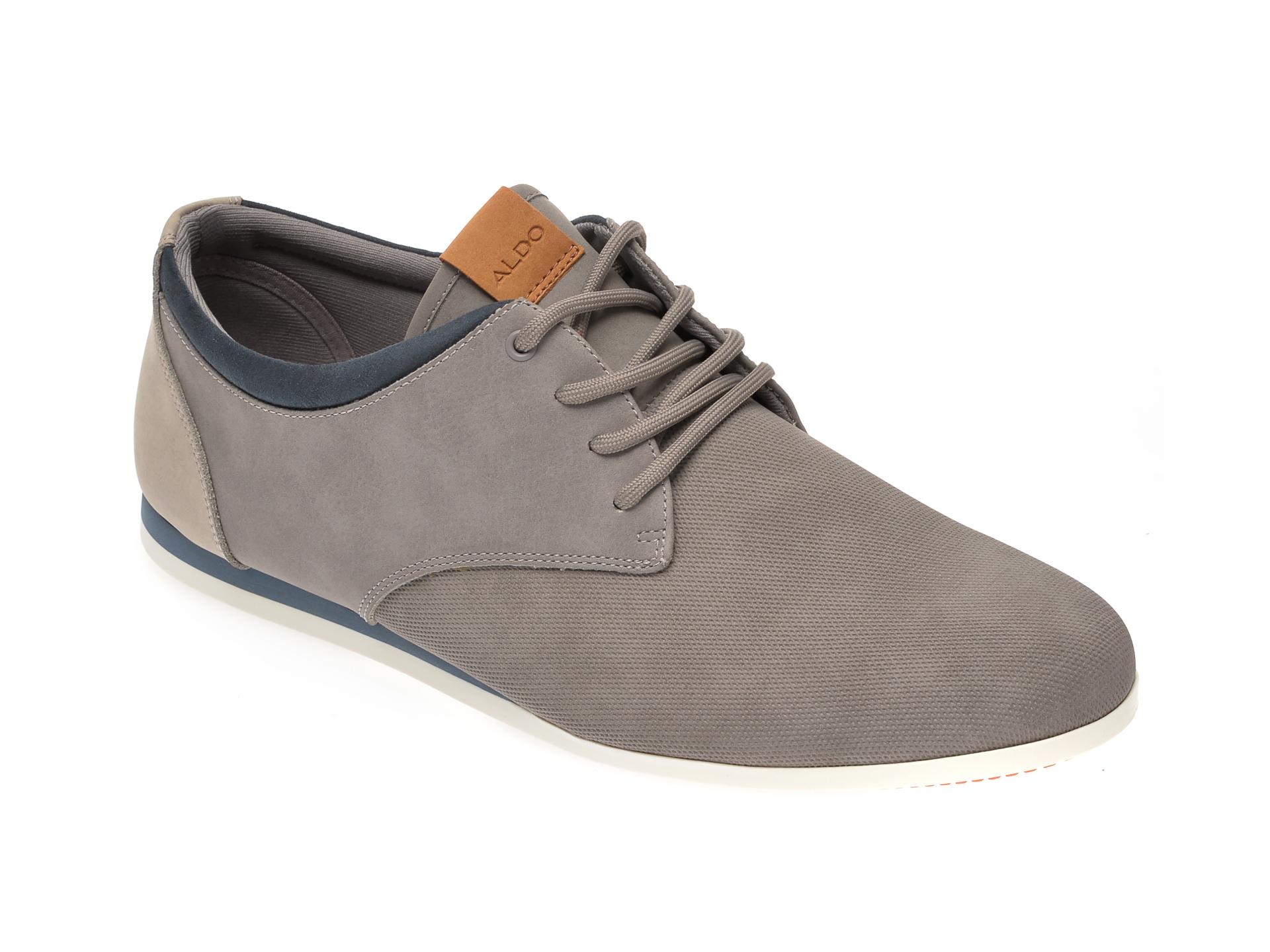 Pantofi ALDO gri, Aauwen-R020, din piele ecologica imagine