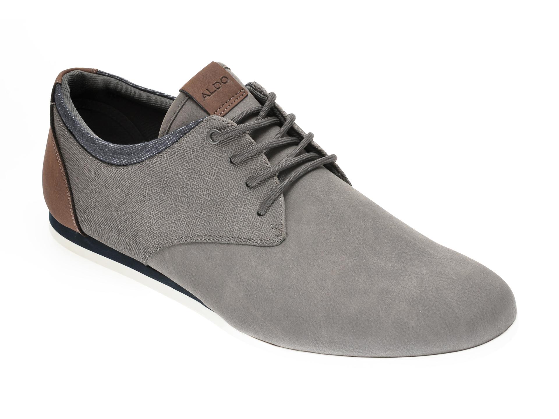 Pantofi ALDO gri, Aauwen-R060, din piele ecologica imagine