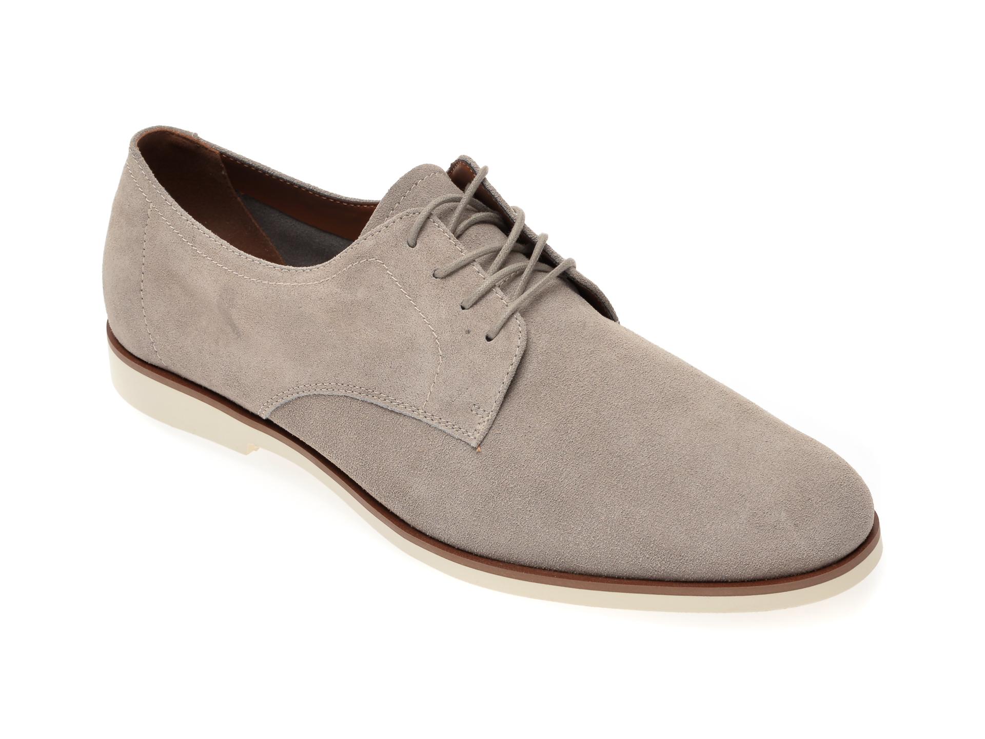 Pantofi ALDO gri, Dautovo020, din piele intoarsa imagine