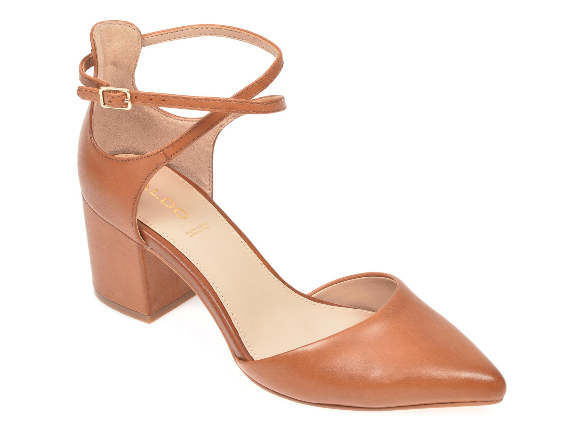 Pantofi ALDO maro, Brookshear220, din piele naturala imagine