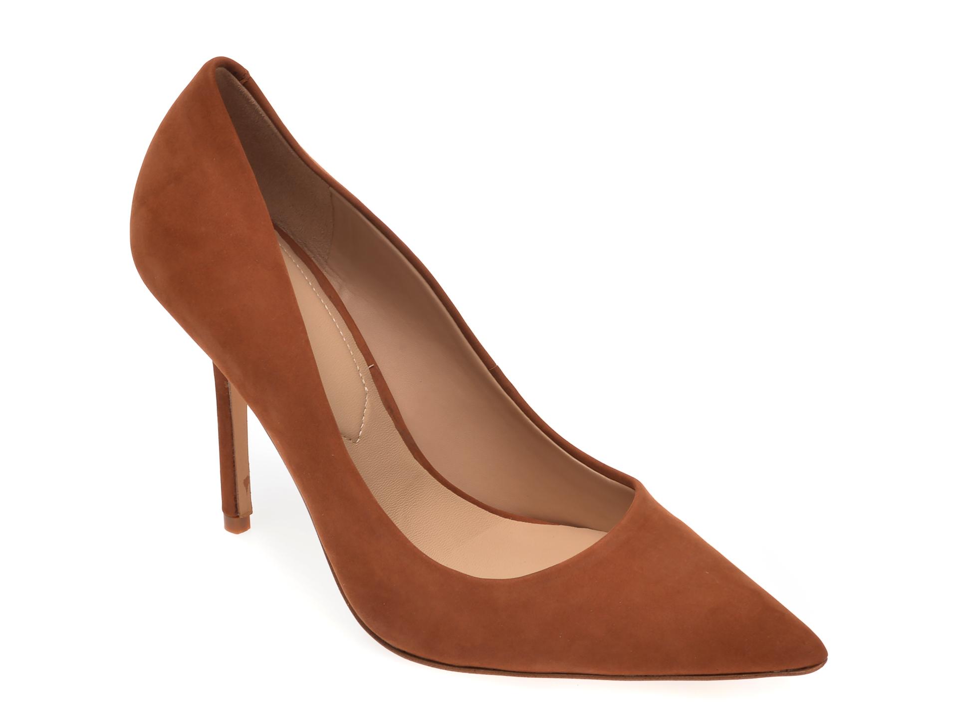 Pantofi ALDO maro, Sophy230, din nabuc
