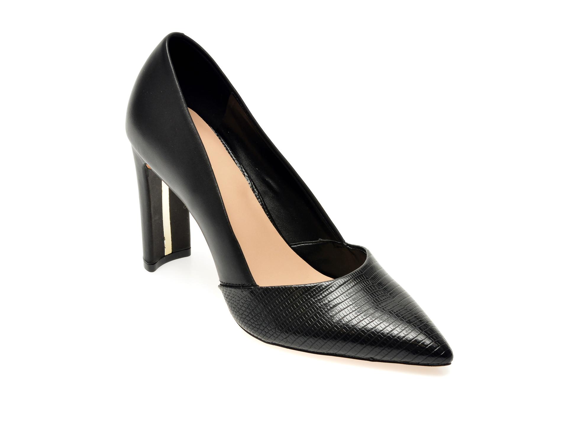 Pantofi ALDO negri, Adworen001, din piele naturala imagine otter.ro