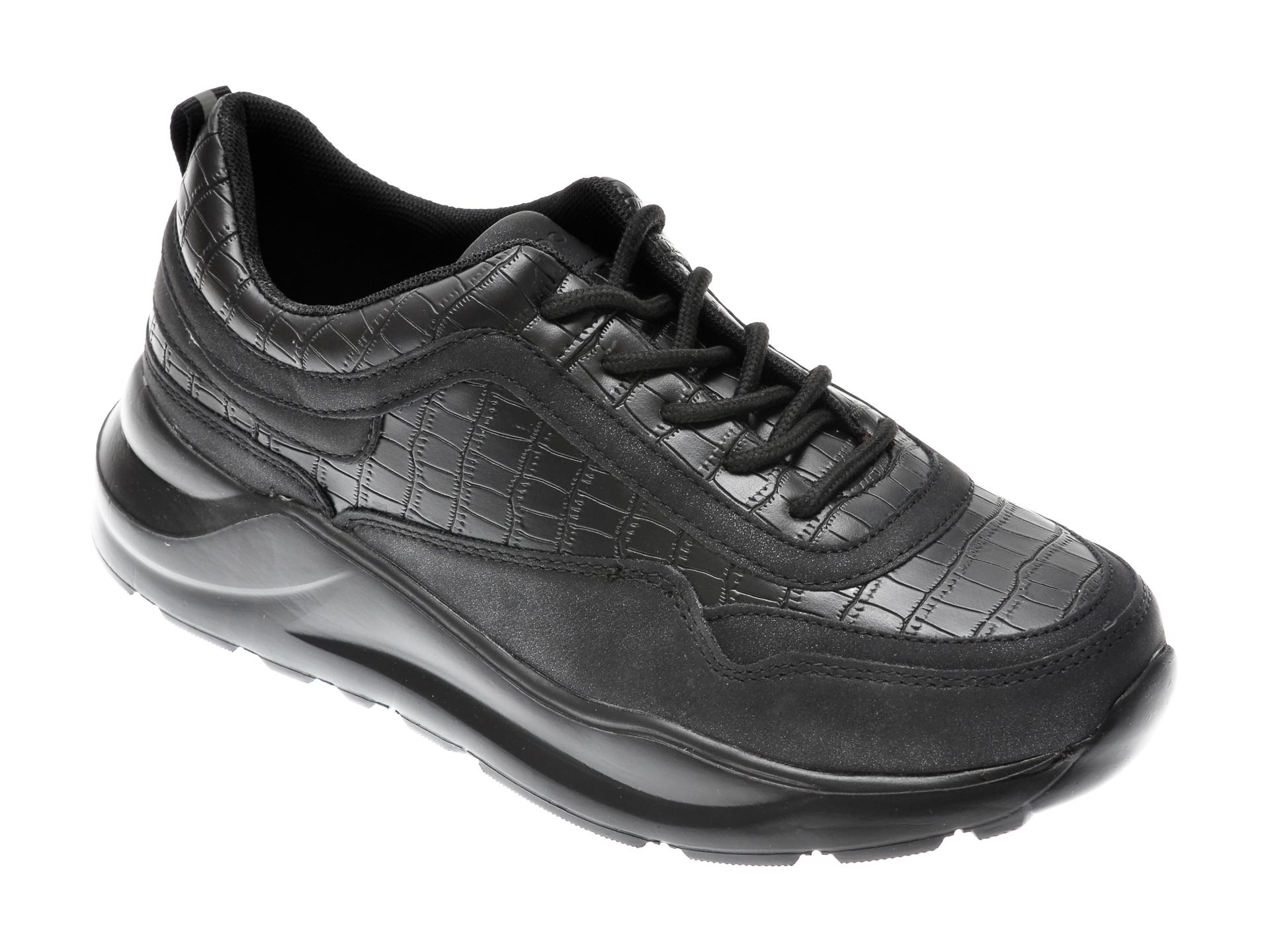 Pantofi ALDO negri, Binx001, din material textil si piele ecologica imagine
